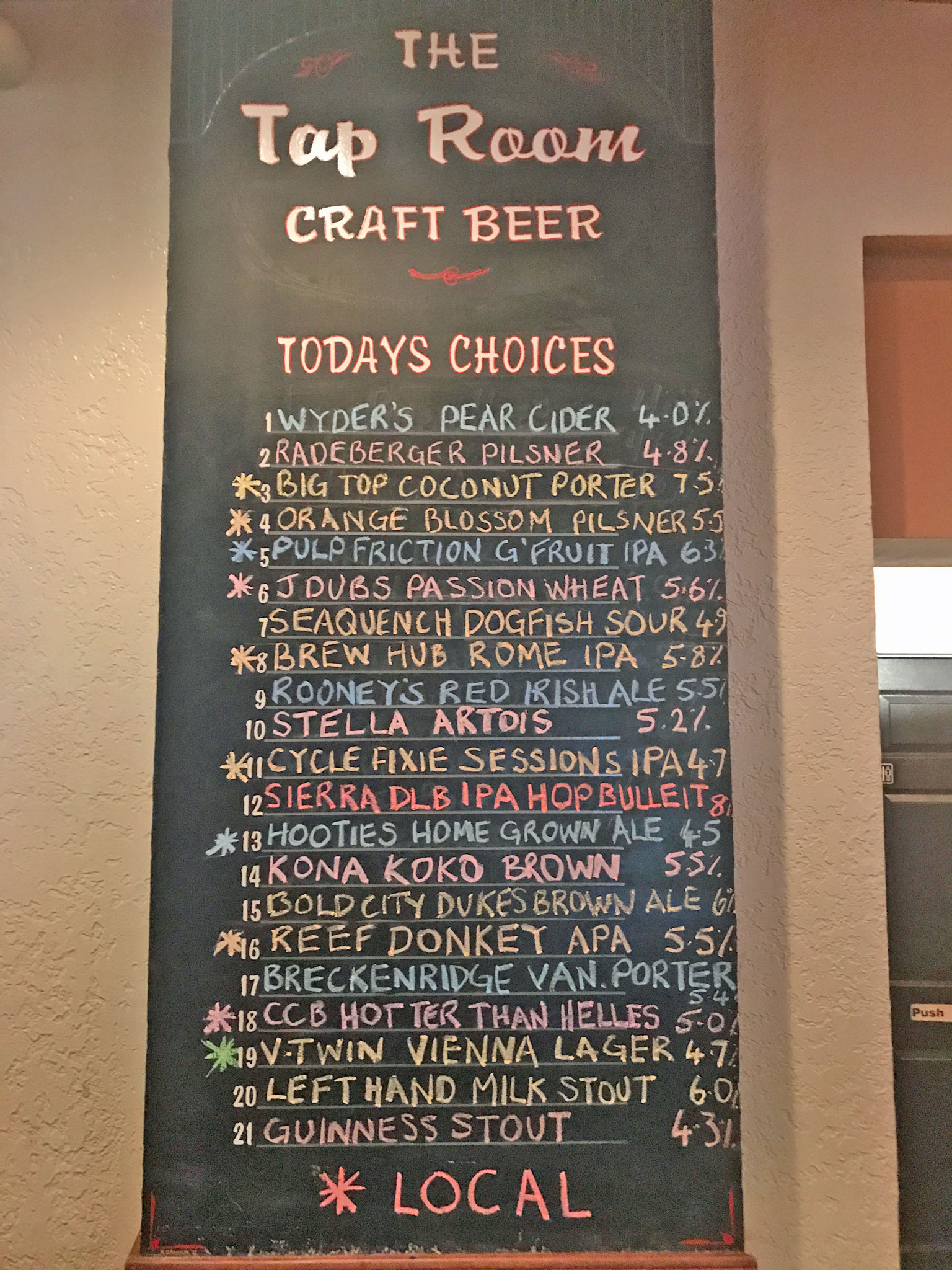 Craft Beers at The Tap Room