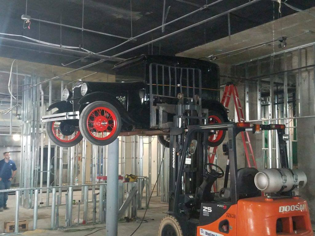 1930s Ford Model A Suspended Above the Bar