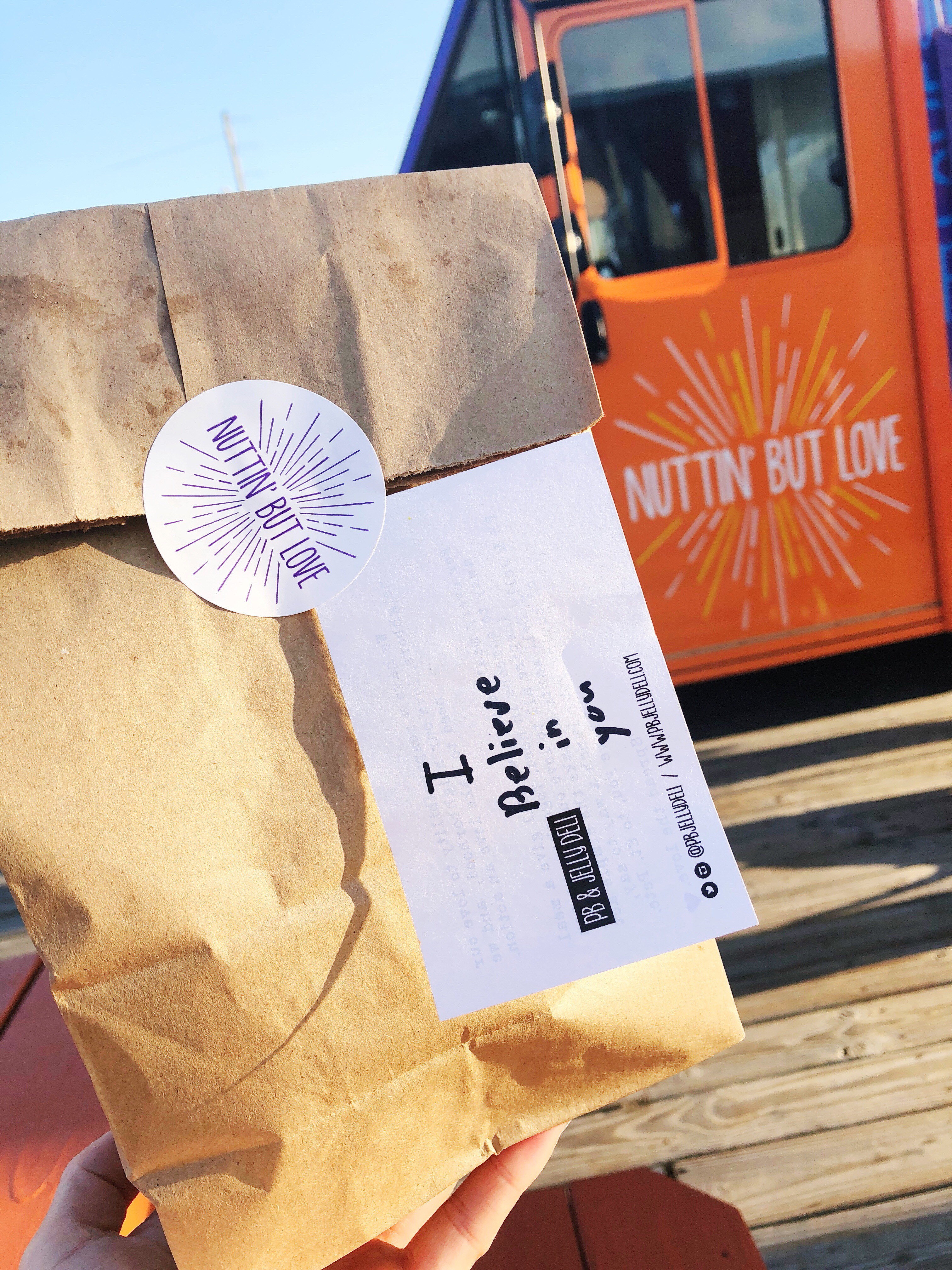 Sandwiches Served in Brown Paper Bags with a Personalized Note: Like Elementary School Lunches, all over again!