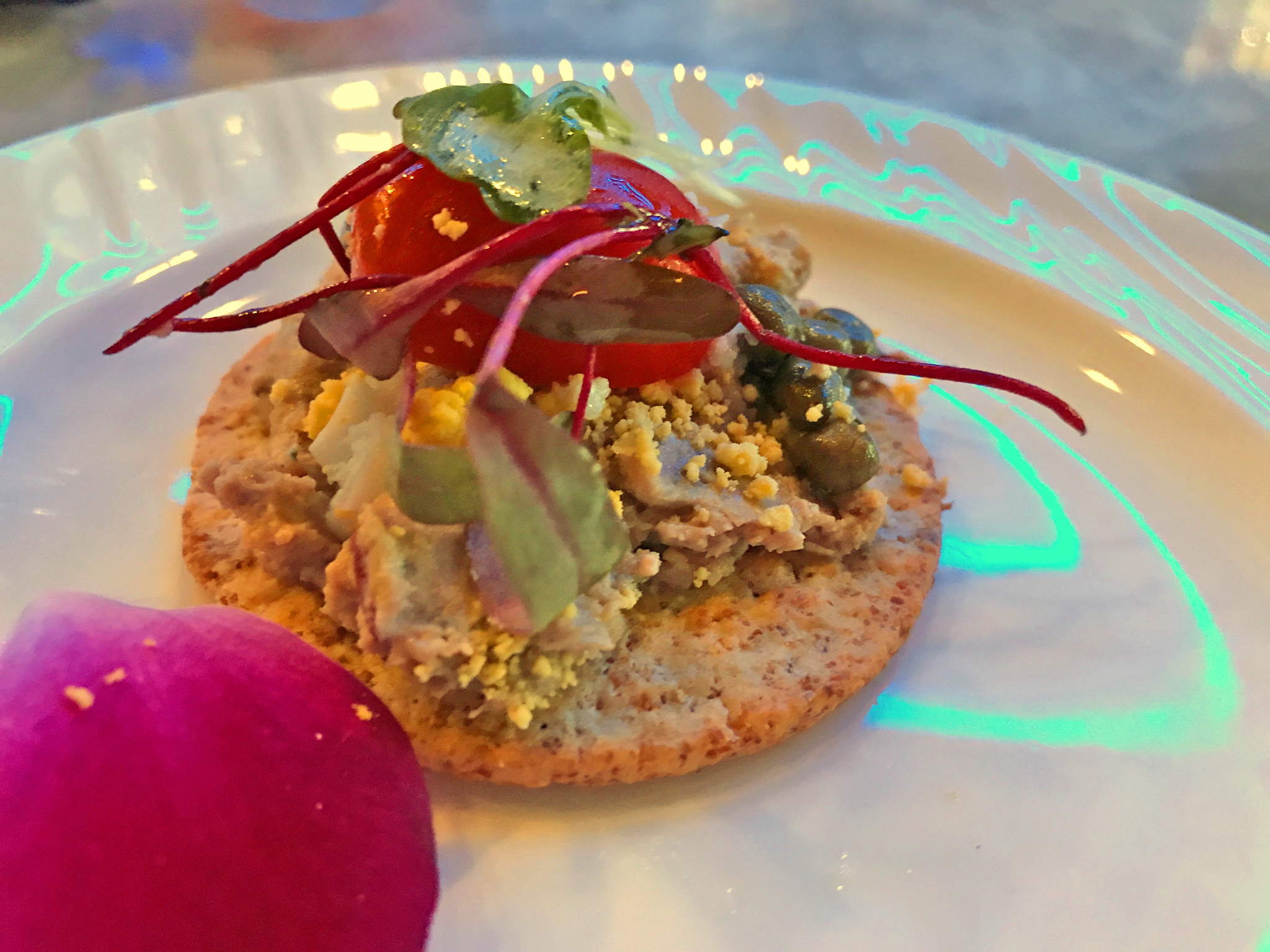 Duck Foie Gras Pâté Assembled on a Cracker
