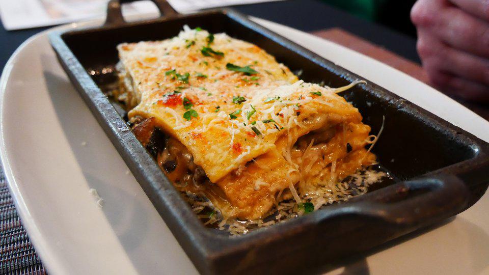 Lasagna in Blanco con Funghi