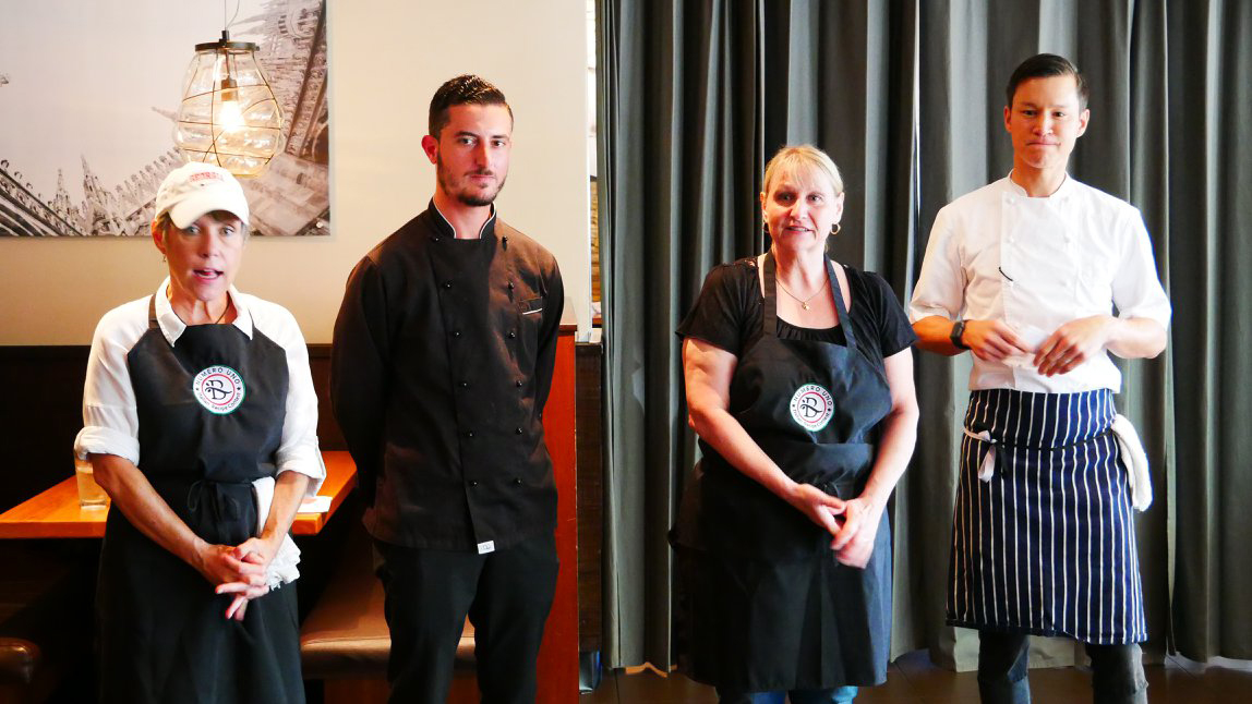 Joey Moore, Guiseppe De Lorenzo, Debbie Reid & Executive Chef Jeffrey Jew