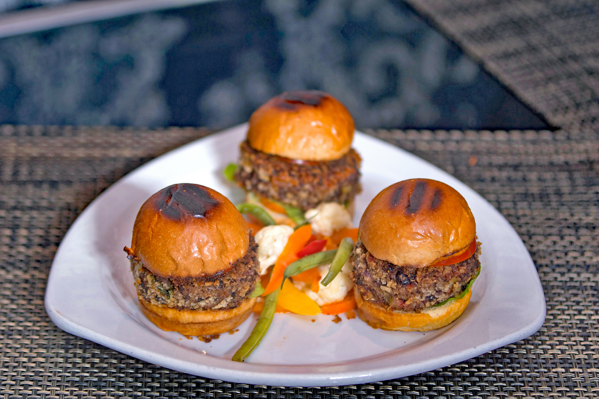 Black Bean and Veg Sliders