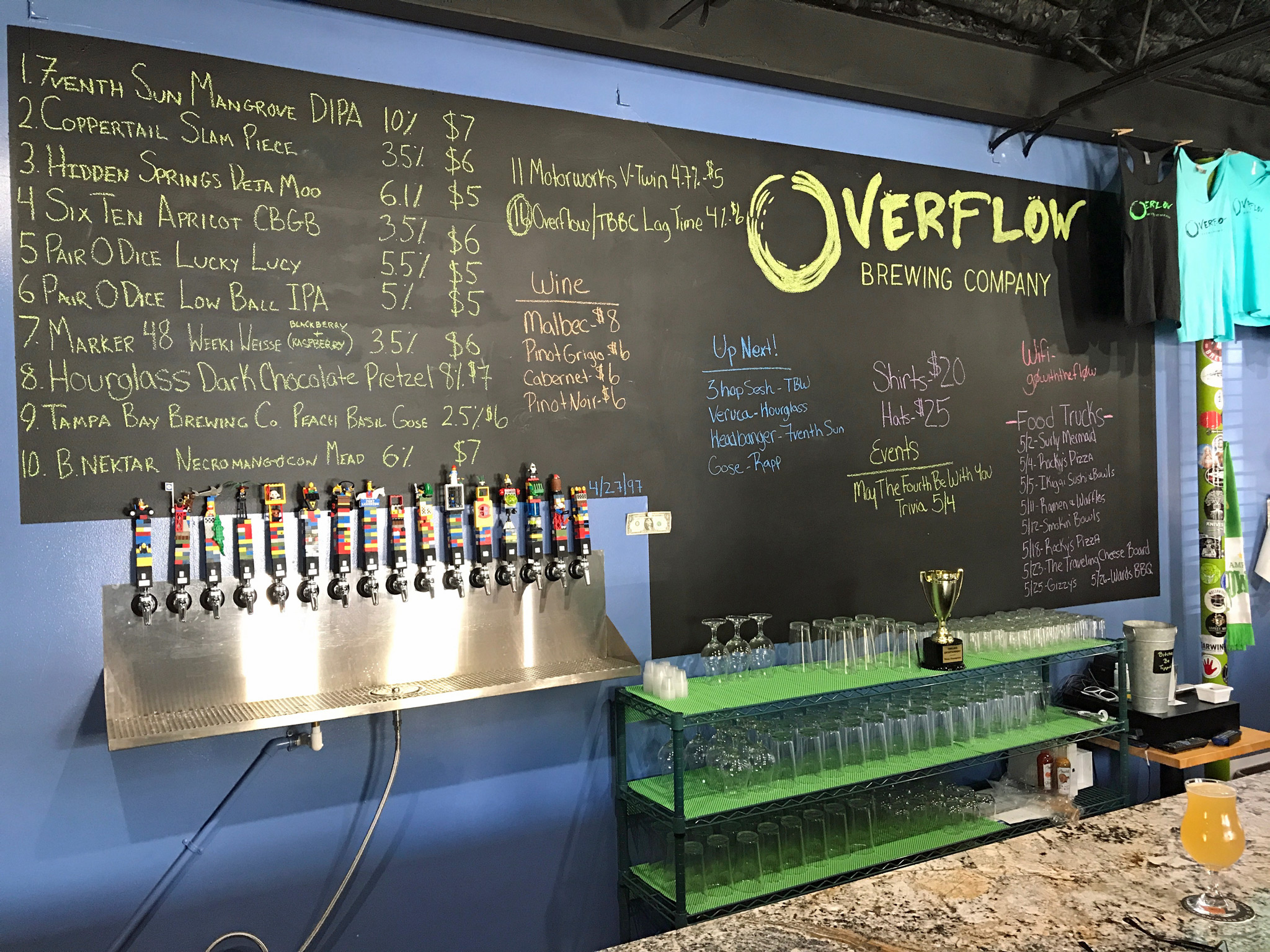 The Bar with Menu Board, & Food Truck Schedule
