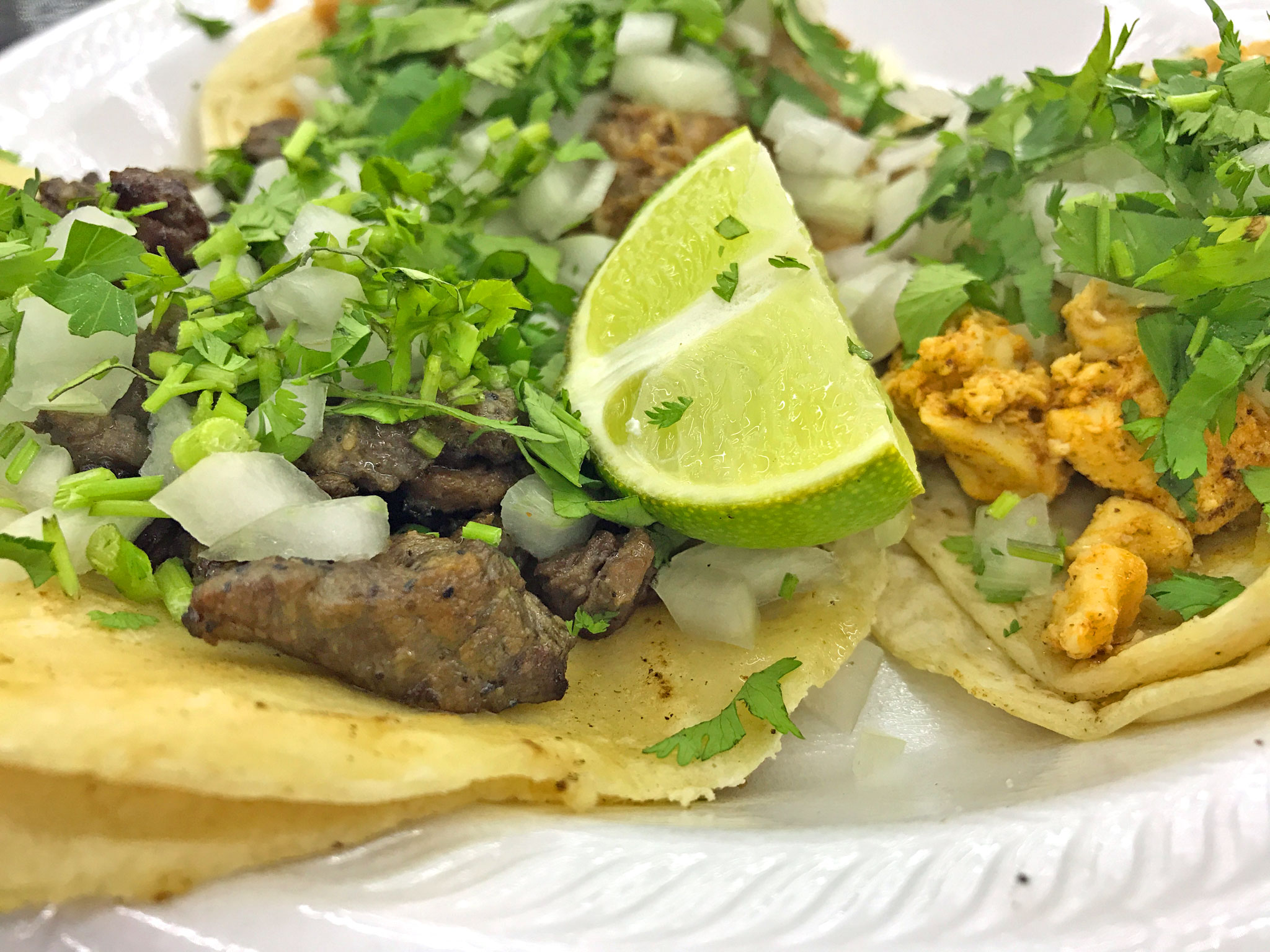 Chile Verde Tacos Closer Look