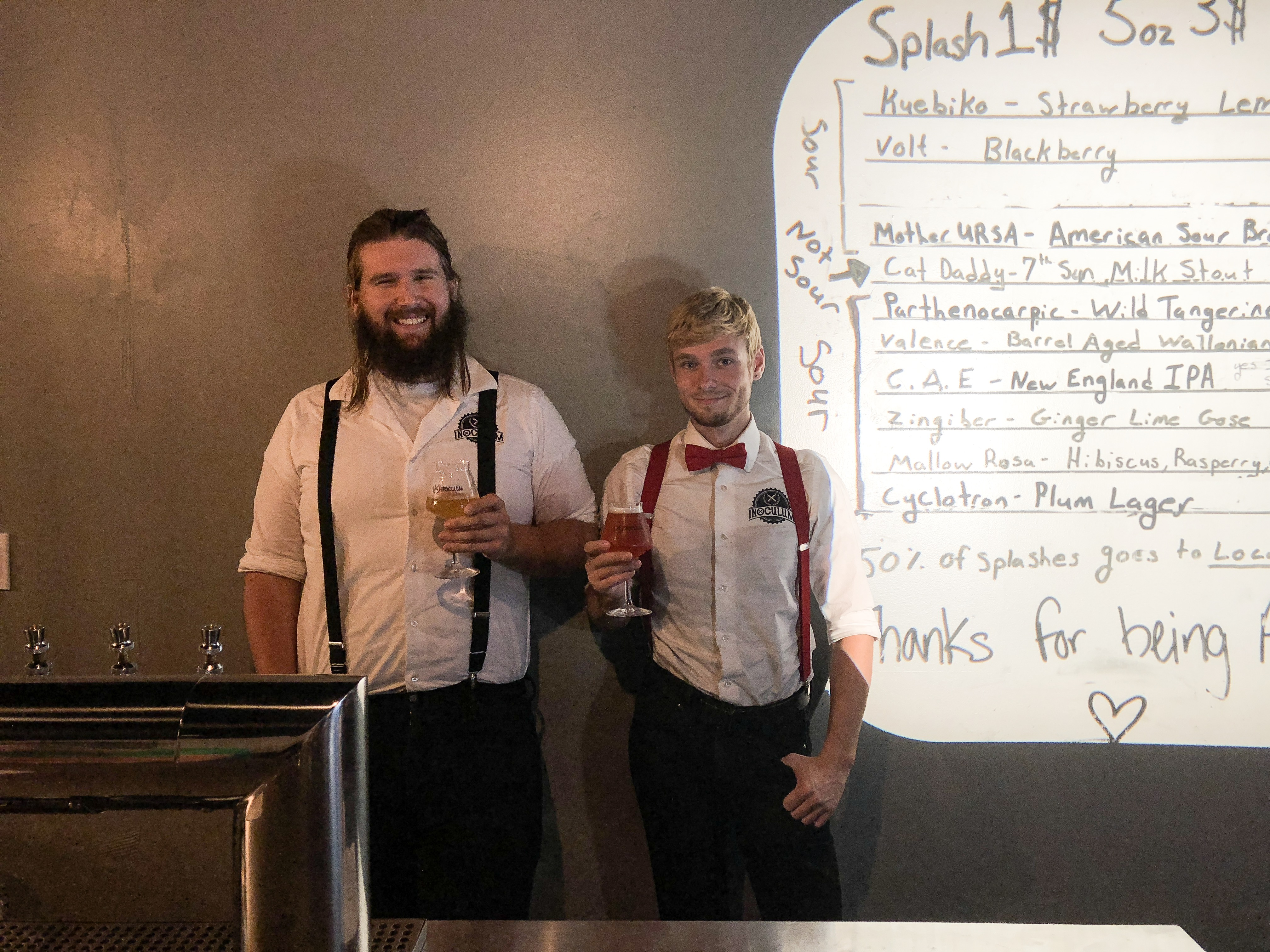 Co-Founder, Nick (left), and his Assistant Brewer, Matt (right)