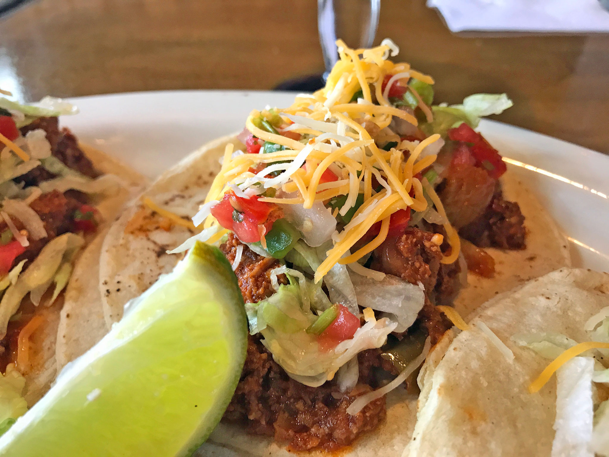 A Closer look at the Nueva Cantina Picadillo Tacos