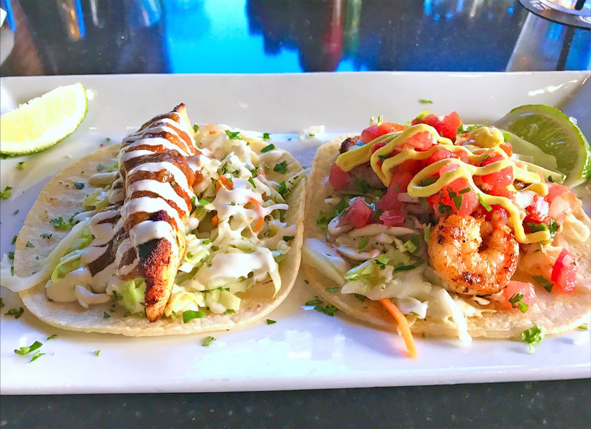 Baja Fish and Shrimp Tacos