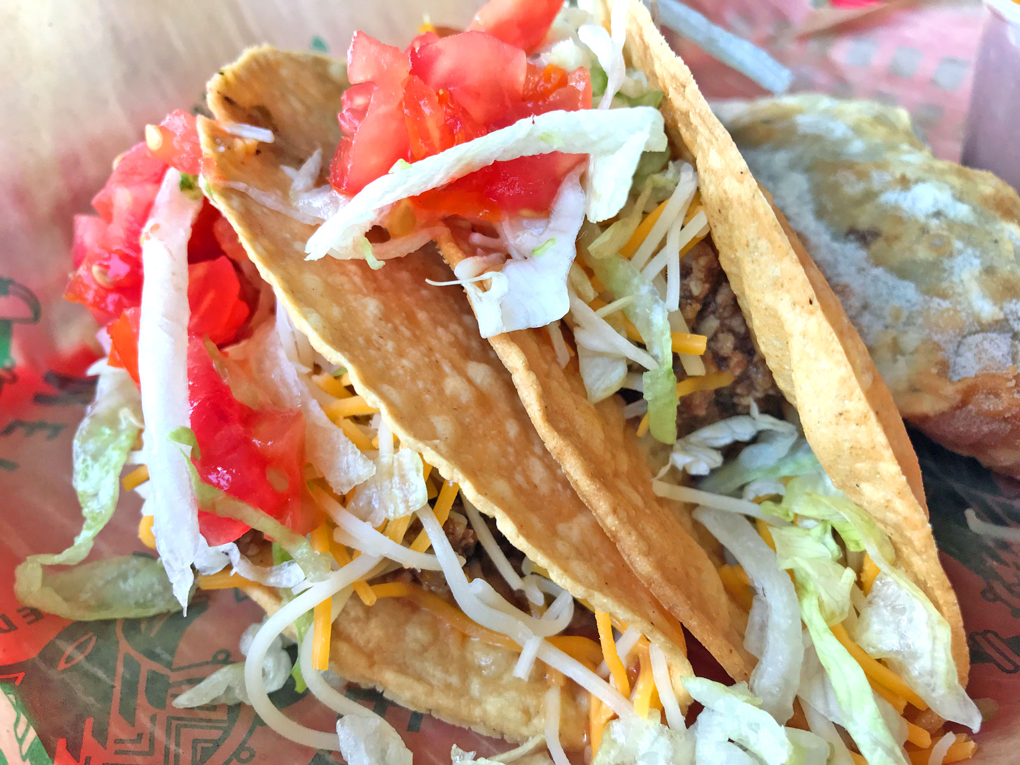 Crisp Taco - Corn Tortilla with Ground Beef, Lettuce, Cheese, Tomatoes