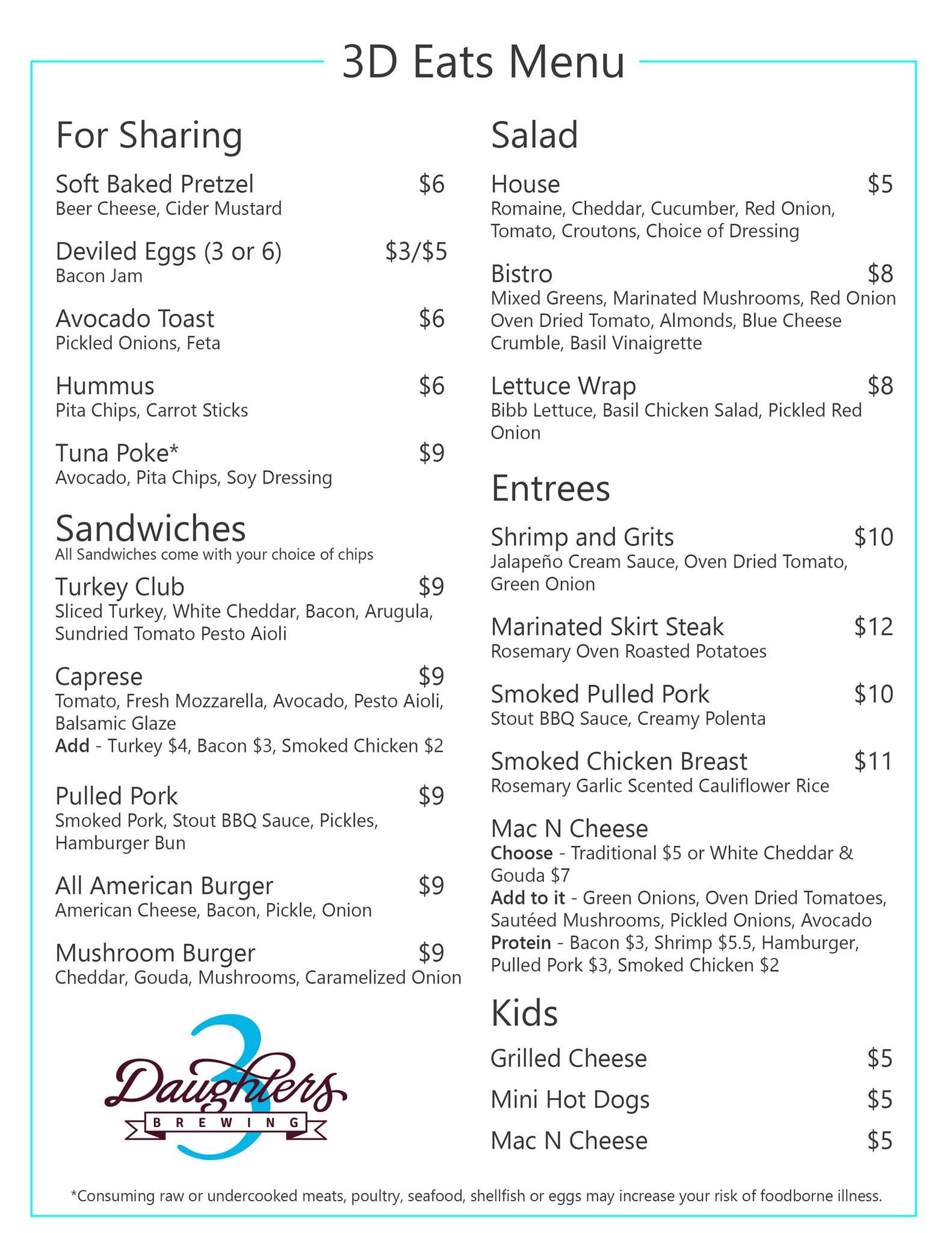 3D Food truck menu