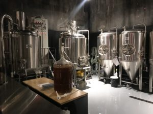Beer tanks in the taproom
