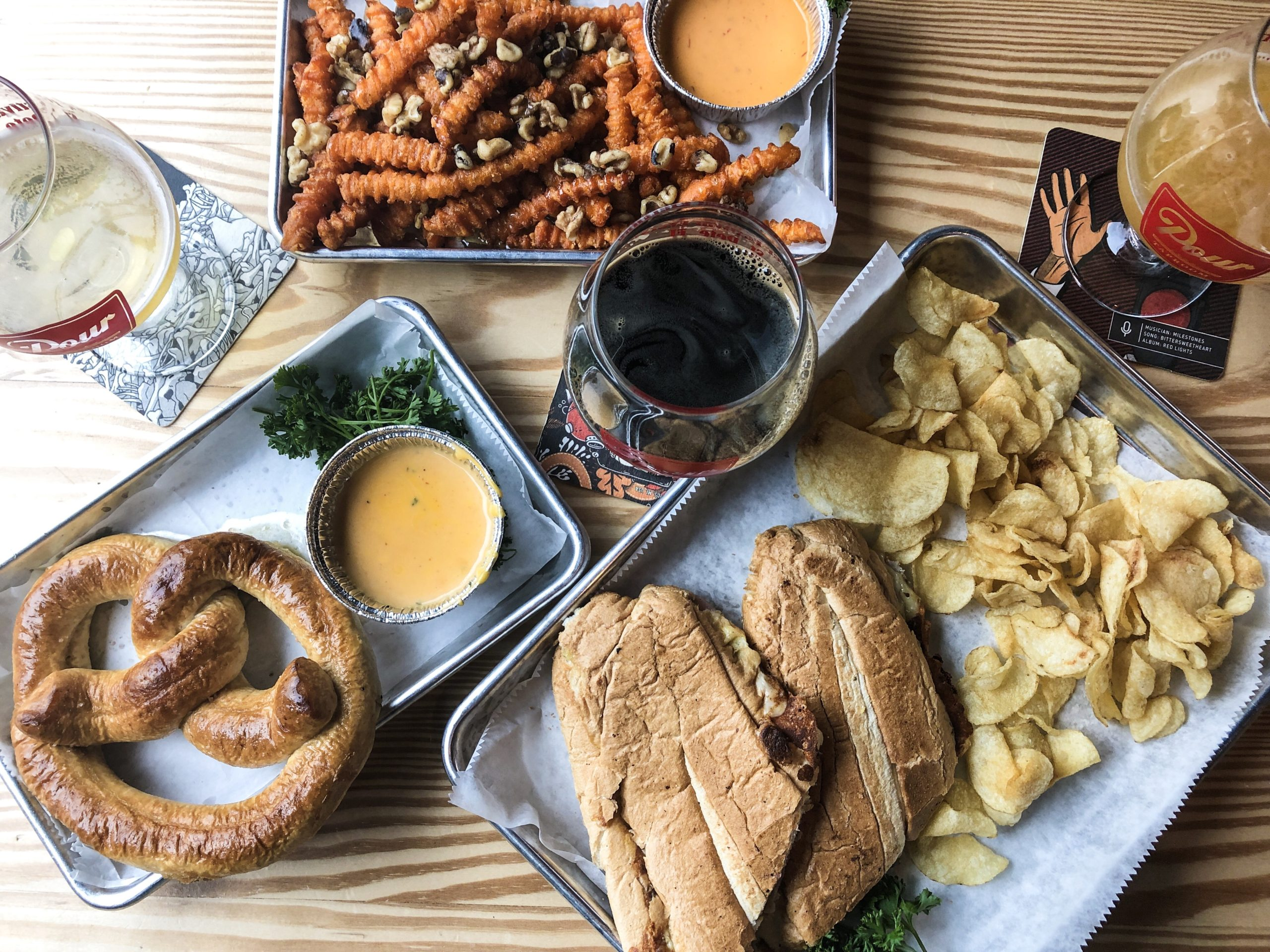 Pour Taproom: Now Offering Bites with their 85 Beverage Taps