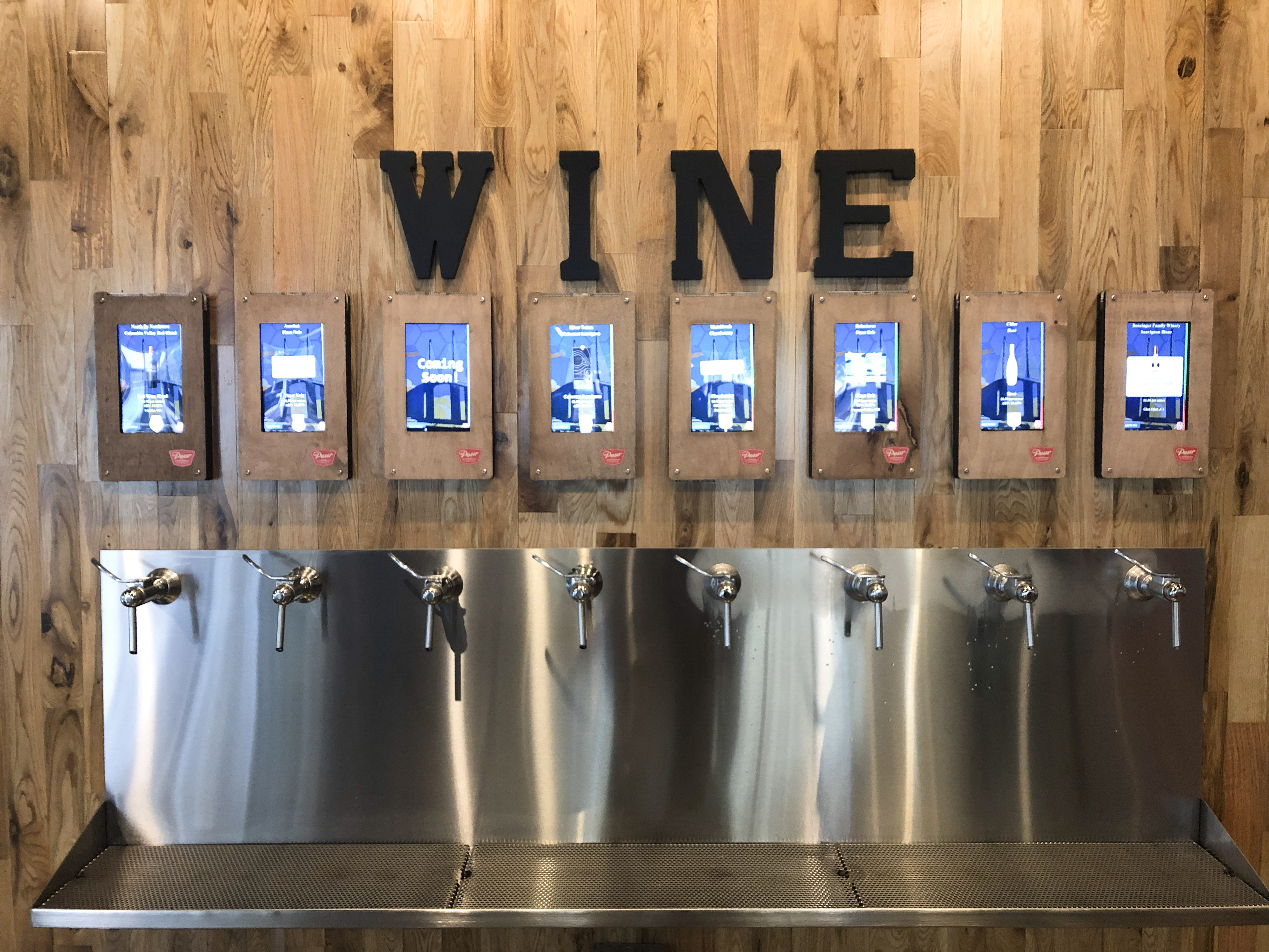 Wine taps at Pour