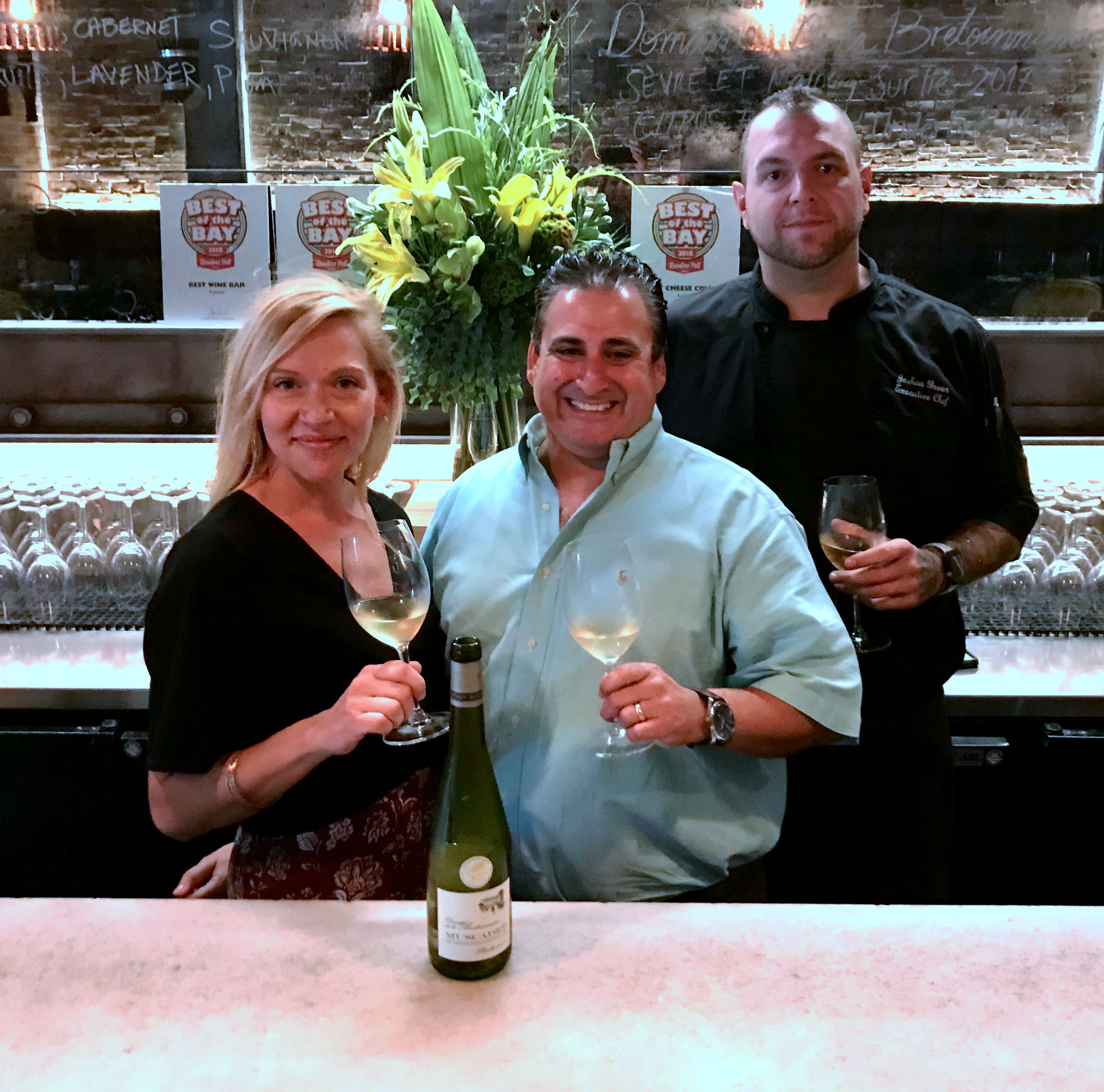 Allison Harris, Rene Hernandez, & Chef Joshua Breen