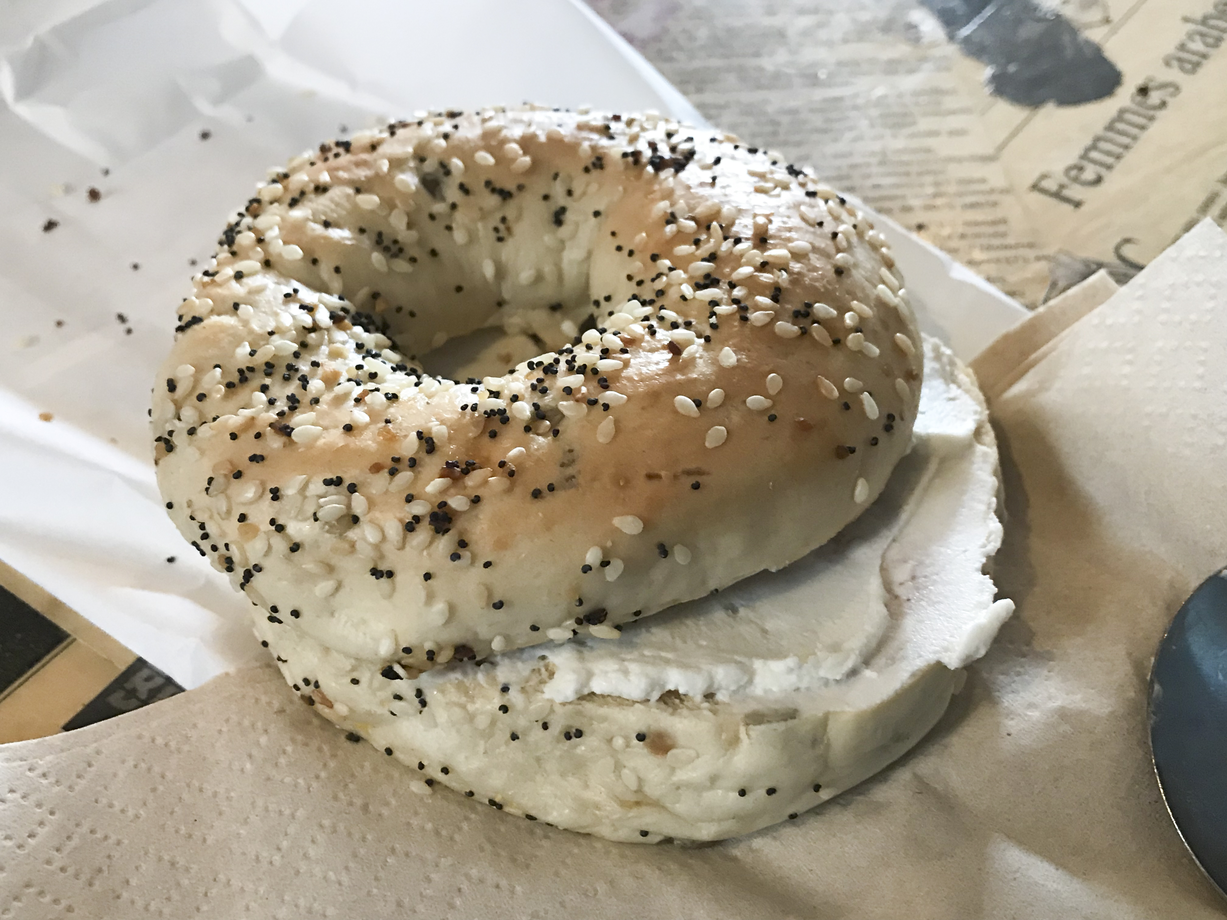 Everything Bagel with Vegan Cream Cheese