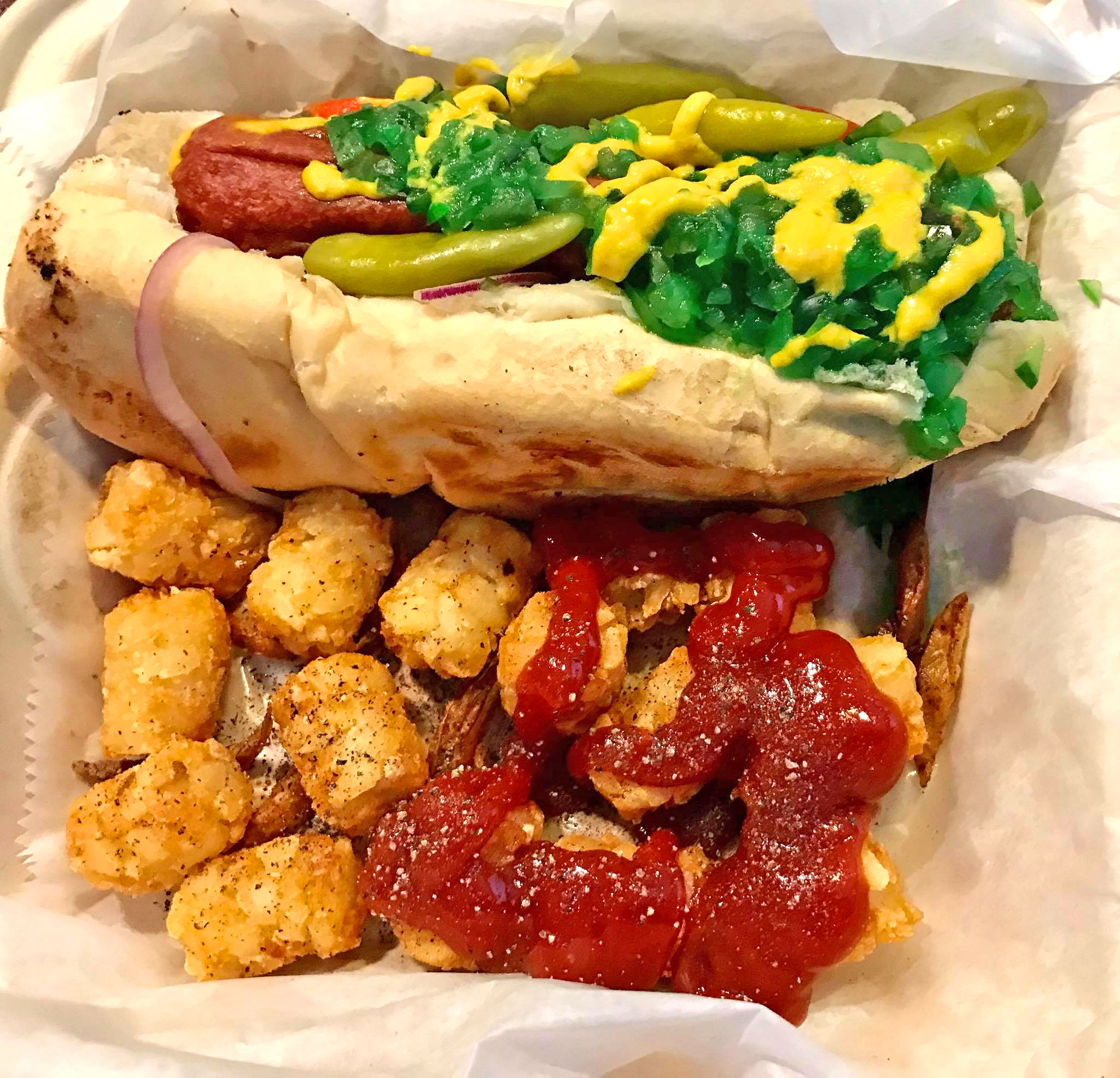 The Burg Bar & Grill Chicago Dog