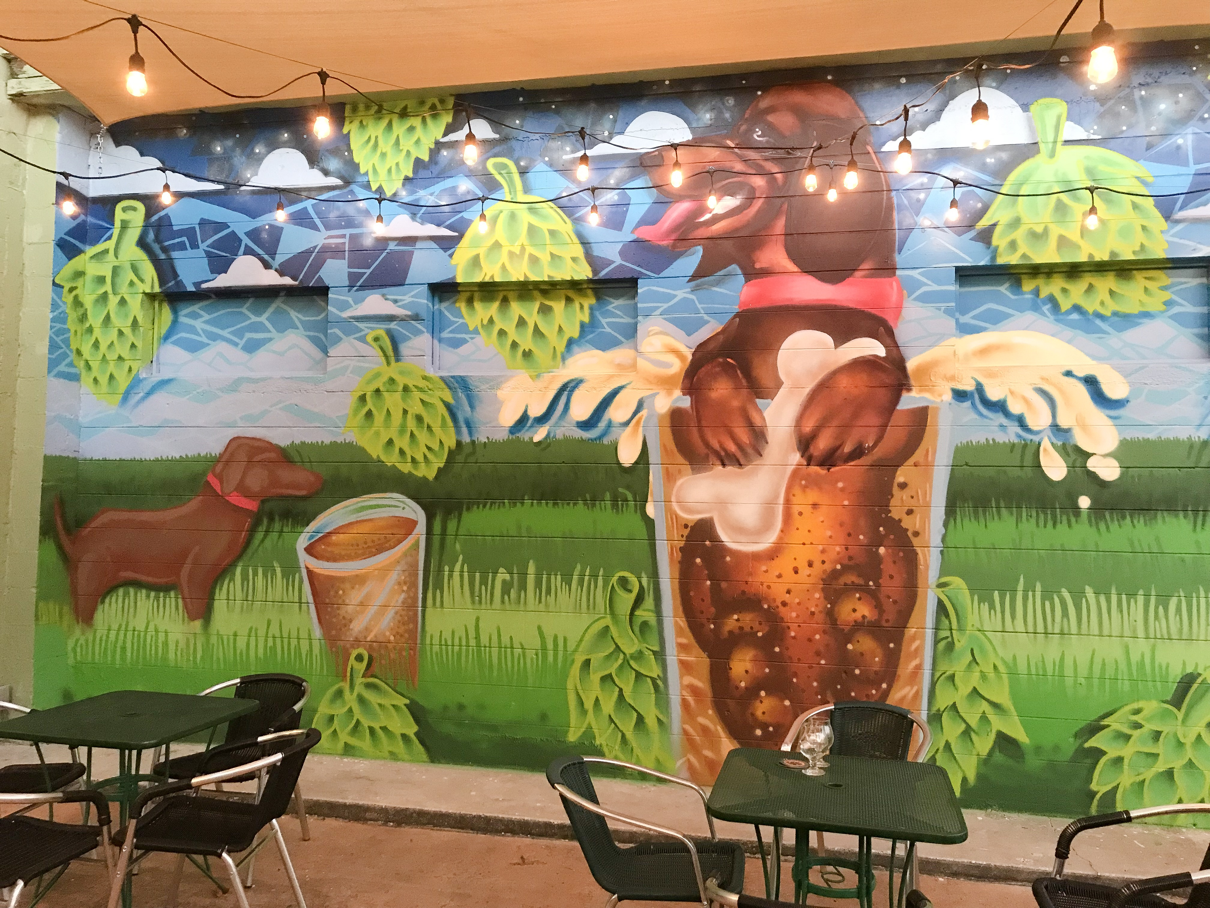 Dog Mural at PAW
