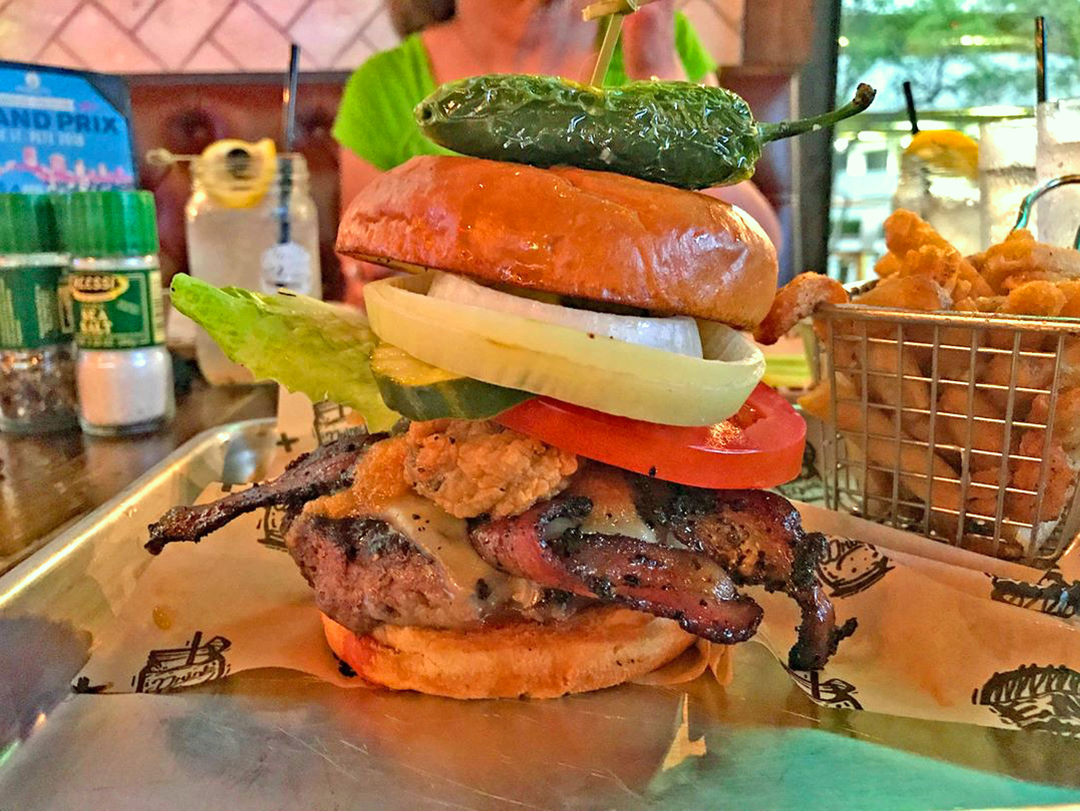 Fire Cracker Burger at The Avenue