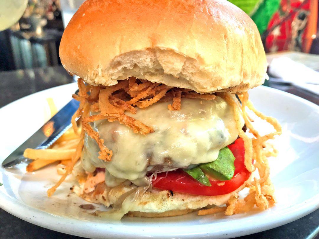 Sirloin Chorizo Burger - Red Mesa Cantina