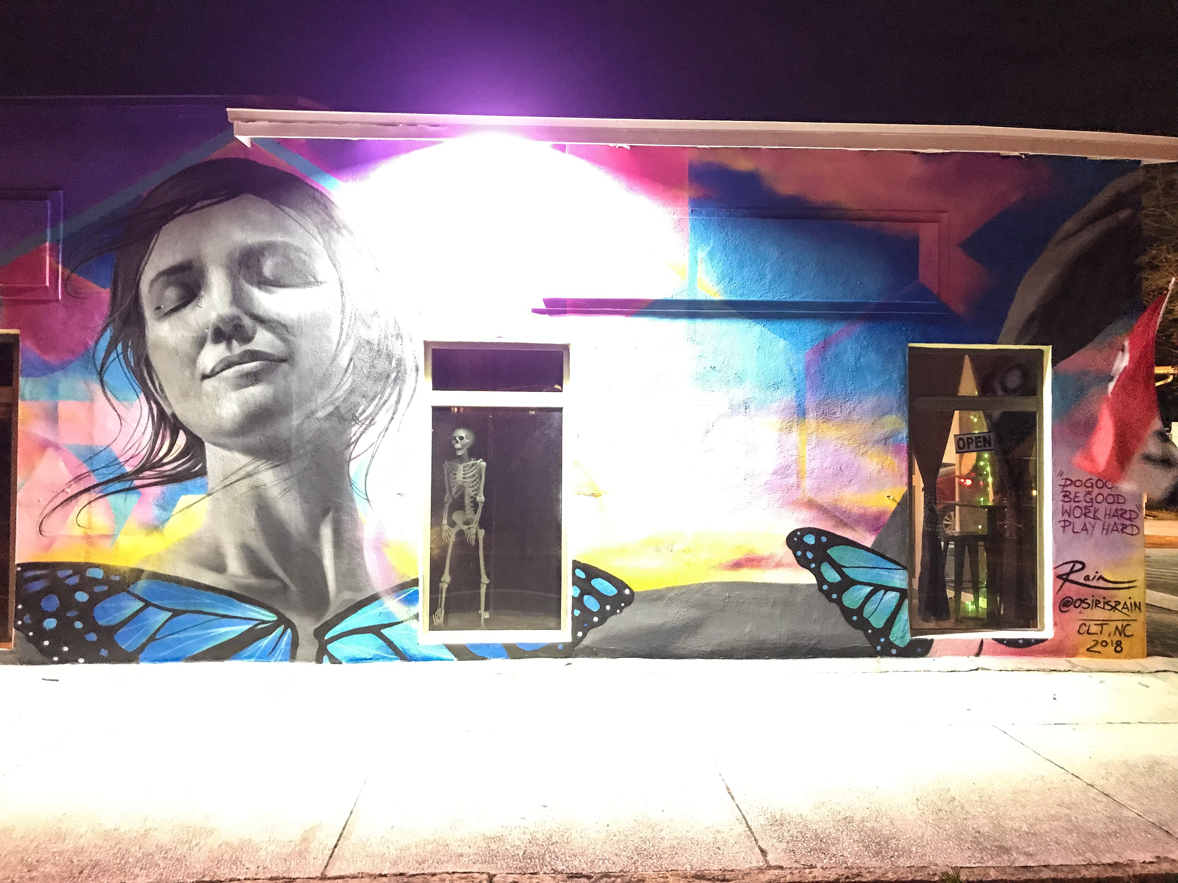 The mural created by Osiris Rain
