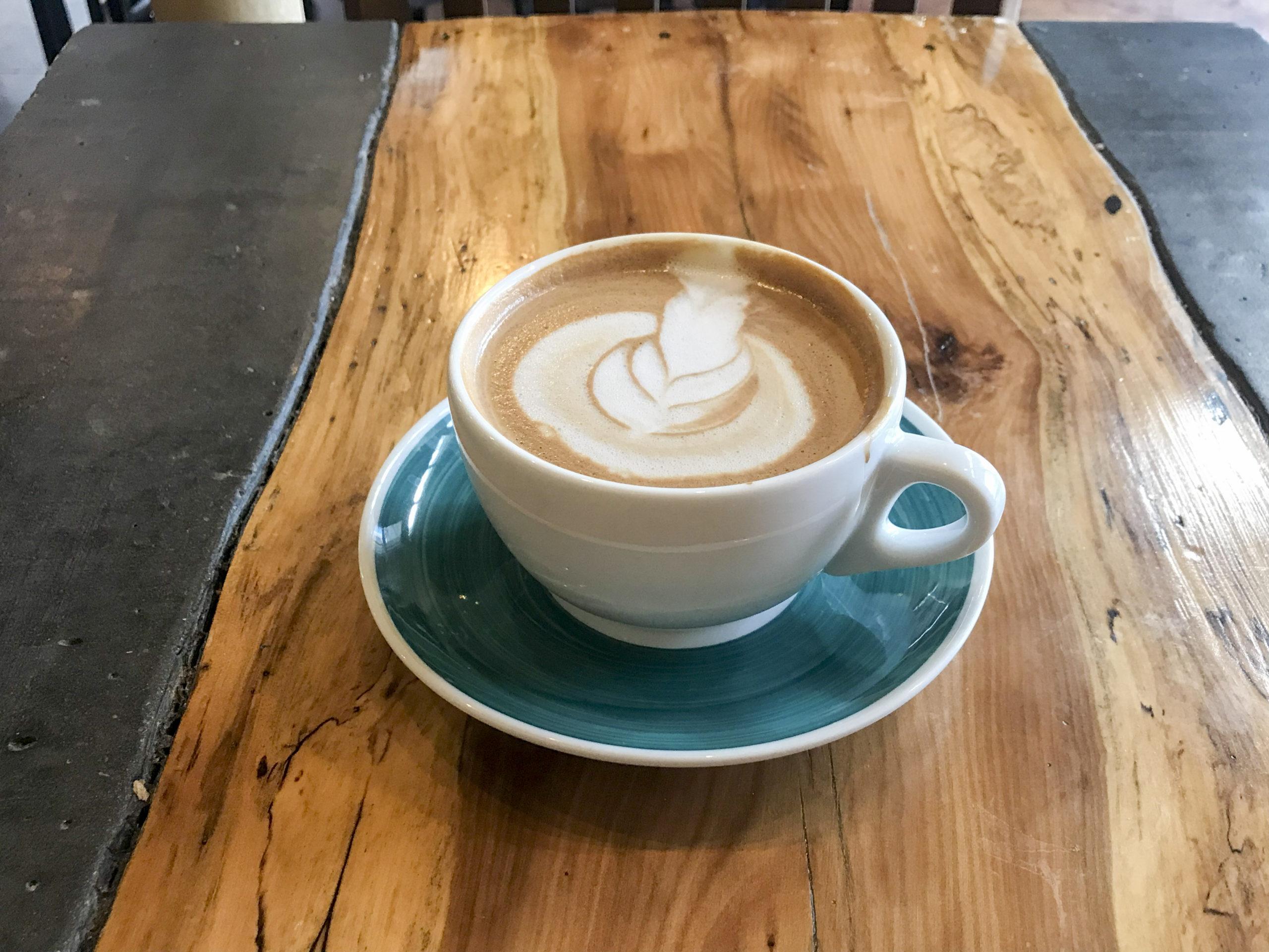 Banyan Cafe Hot Mocha Latte with Almond Milk