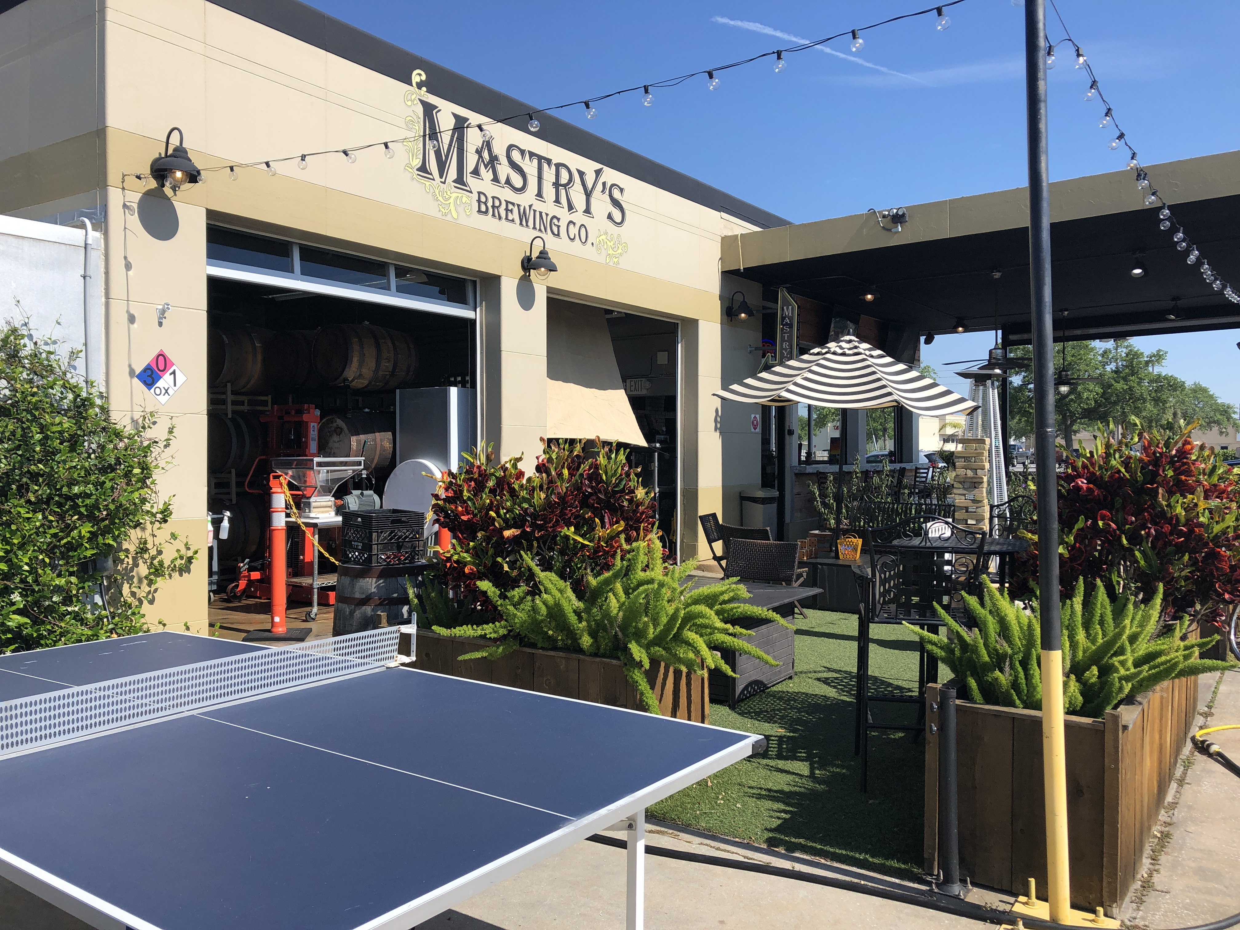 Outside of Mastry's with Ping Pong table