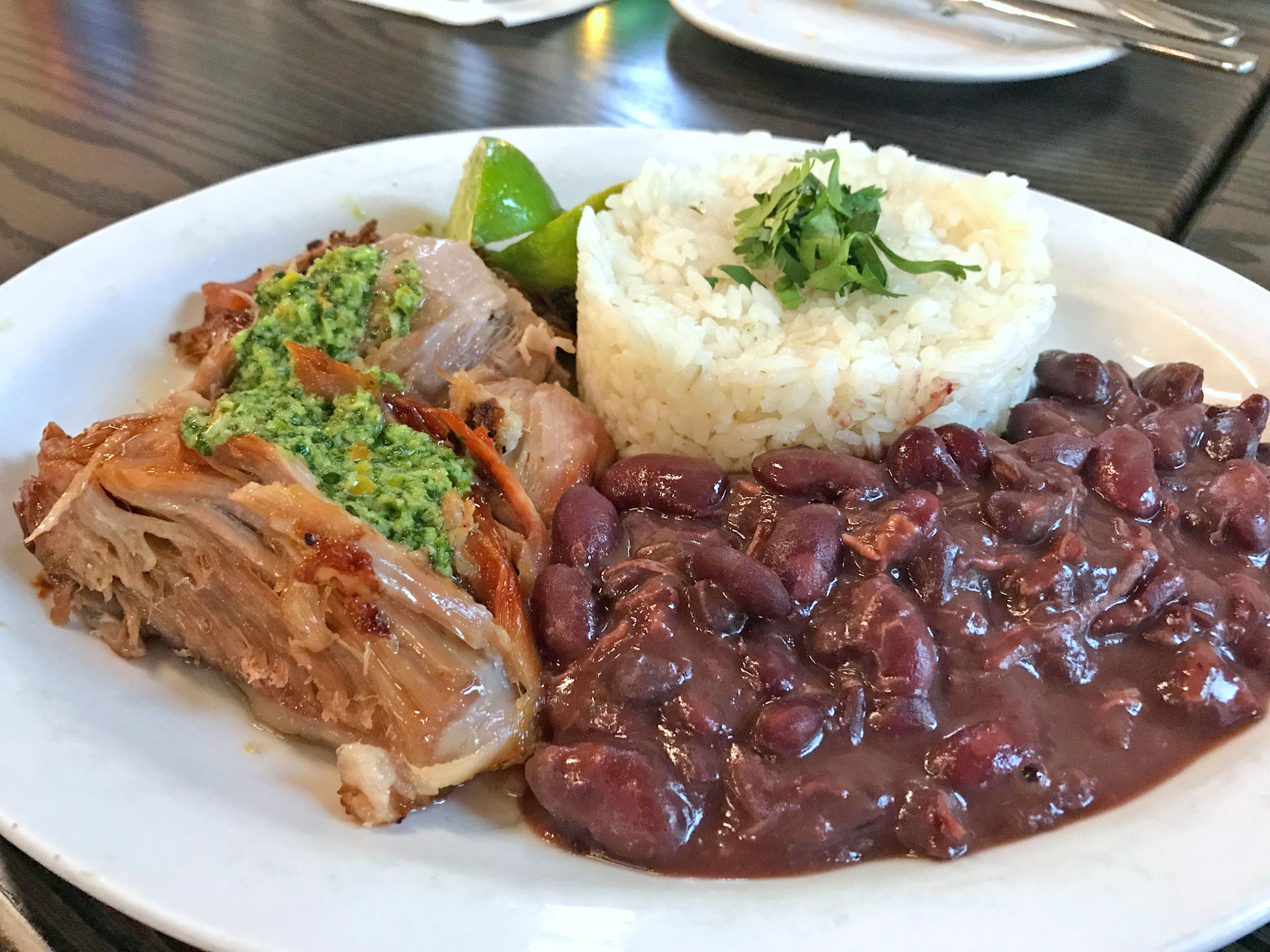 Roasted Pork with Black Beans and Rice