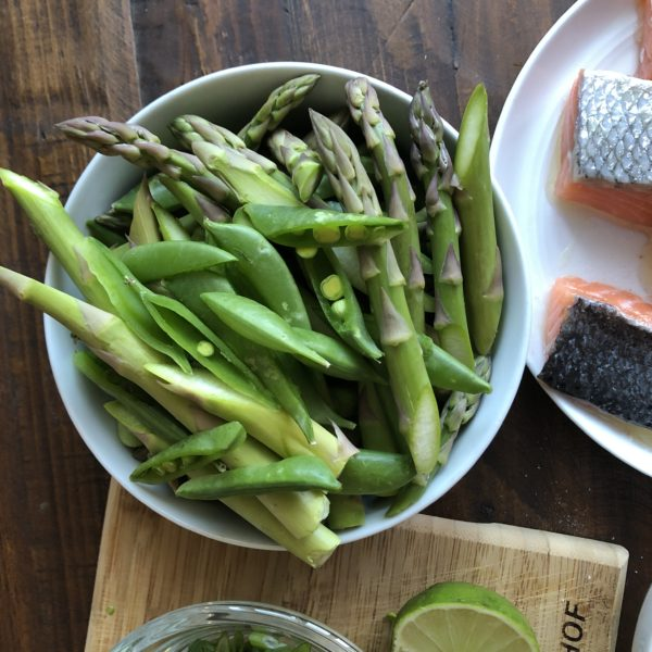 Snap Peas and Asparagus