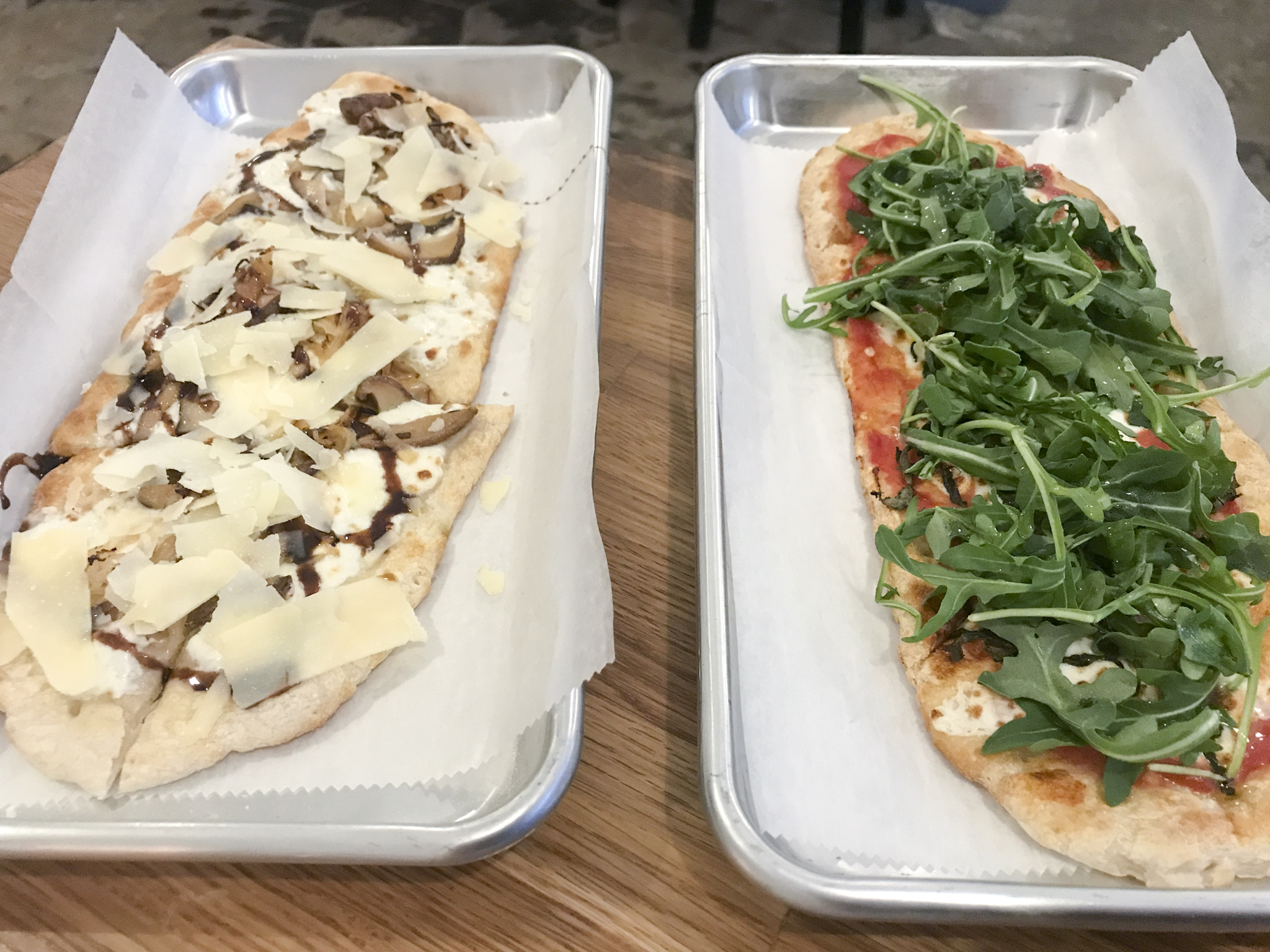 Funghi and Margherita Flatbreads