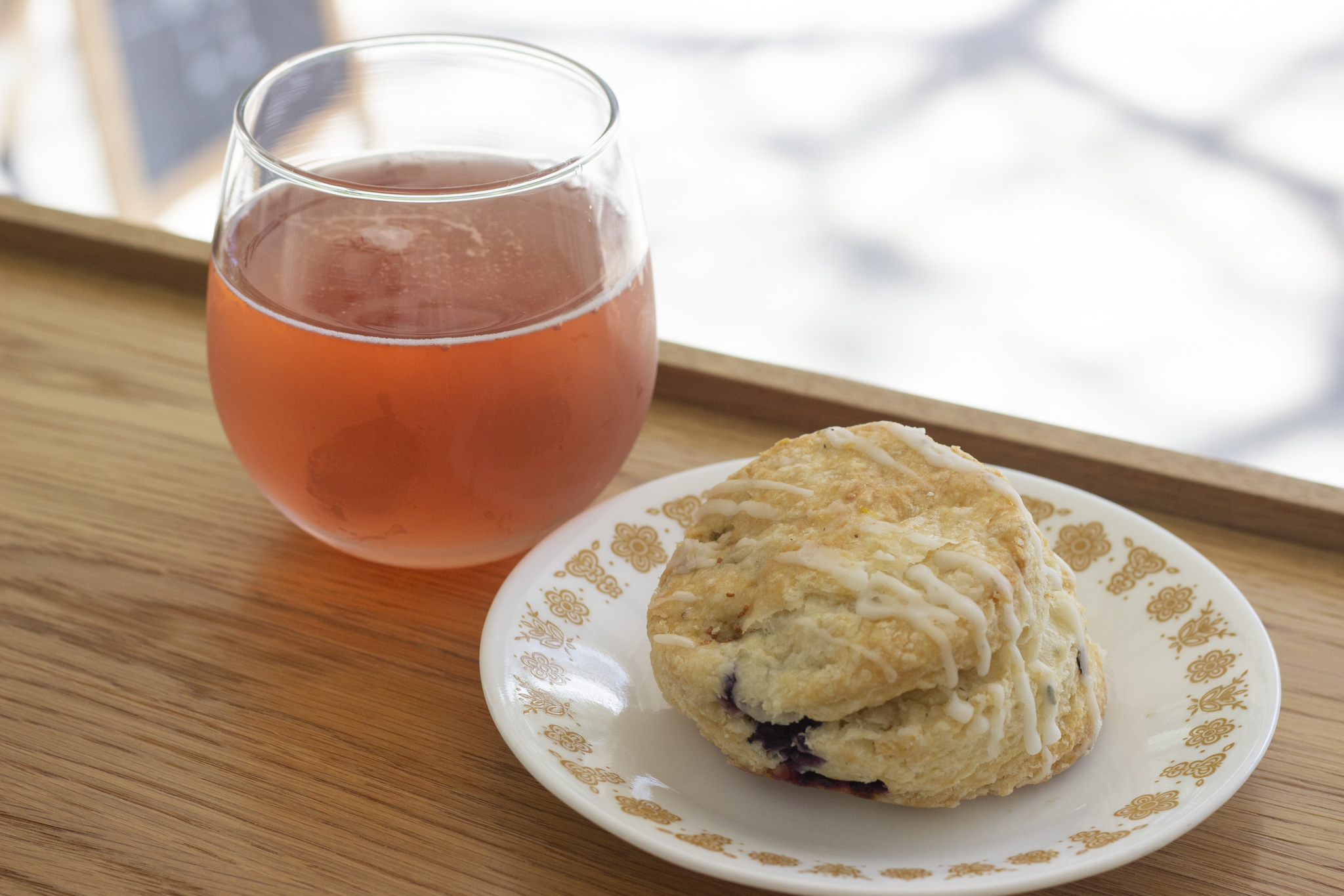 Mother Kombucha Blue Rose and Blueberry Scone