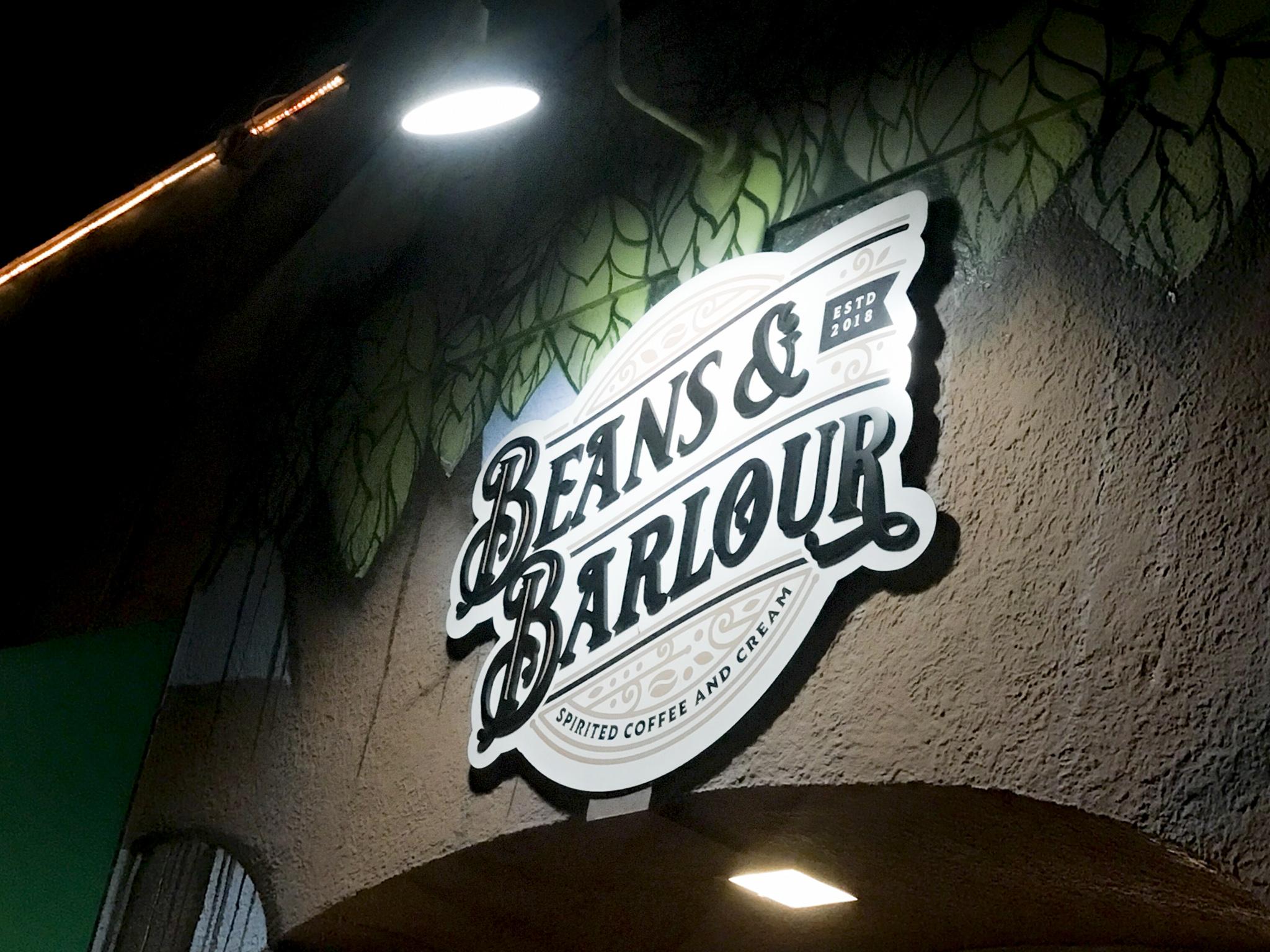 Beans & Barlour Sign