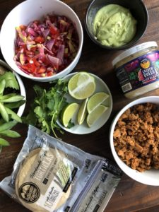 Ingredients for Chorizo Tacos