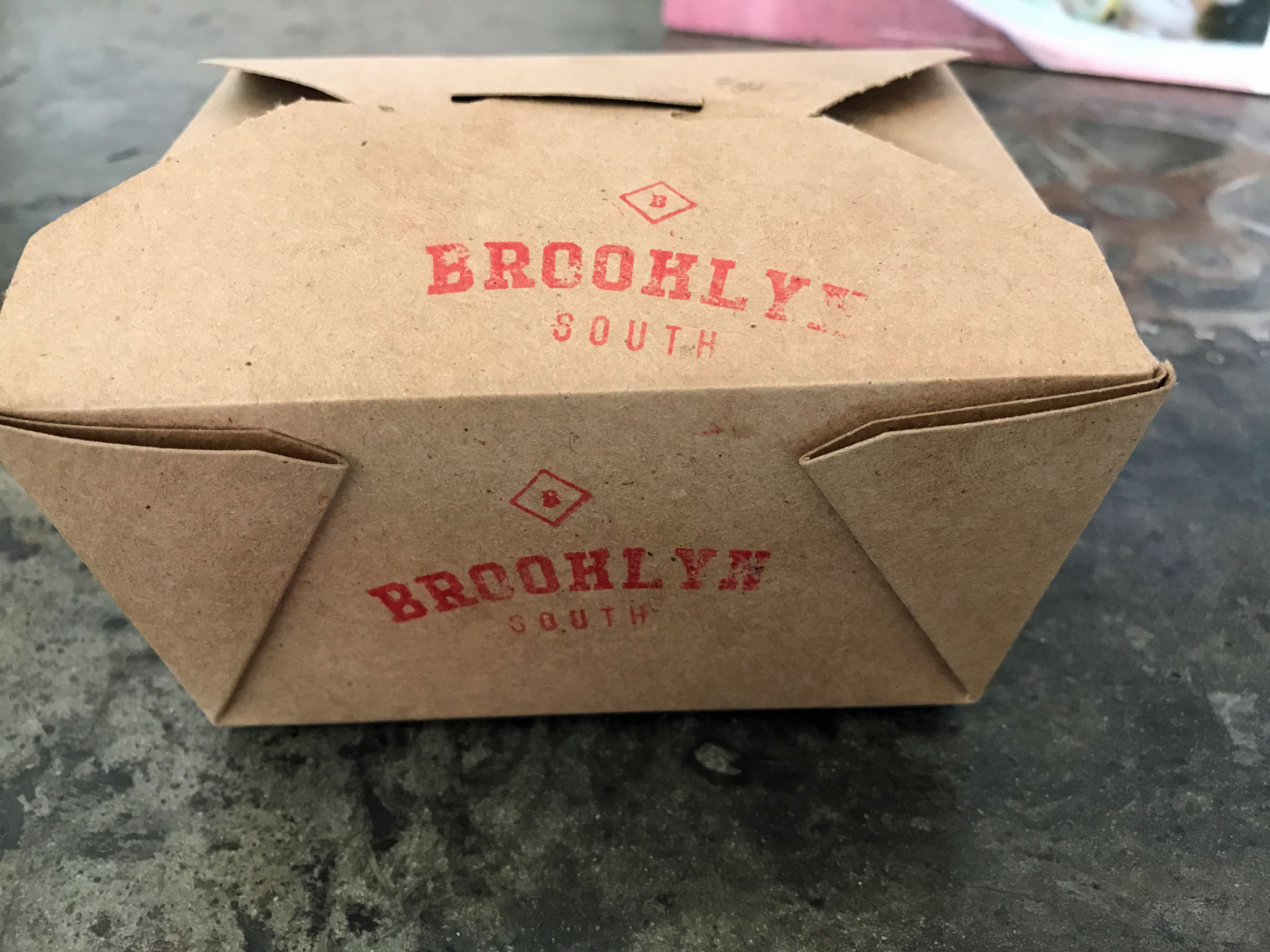 Brooklyn South Mac & Cheese iServed in a To Go Deli Box NY Style