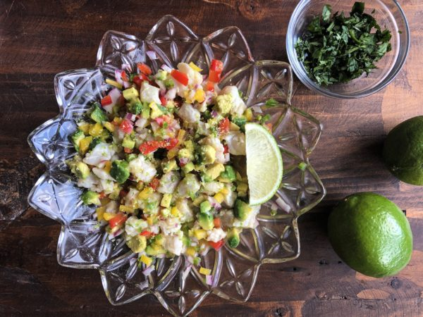 Ceviche, ready to serve