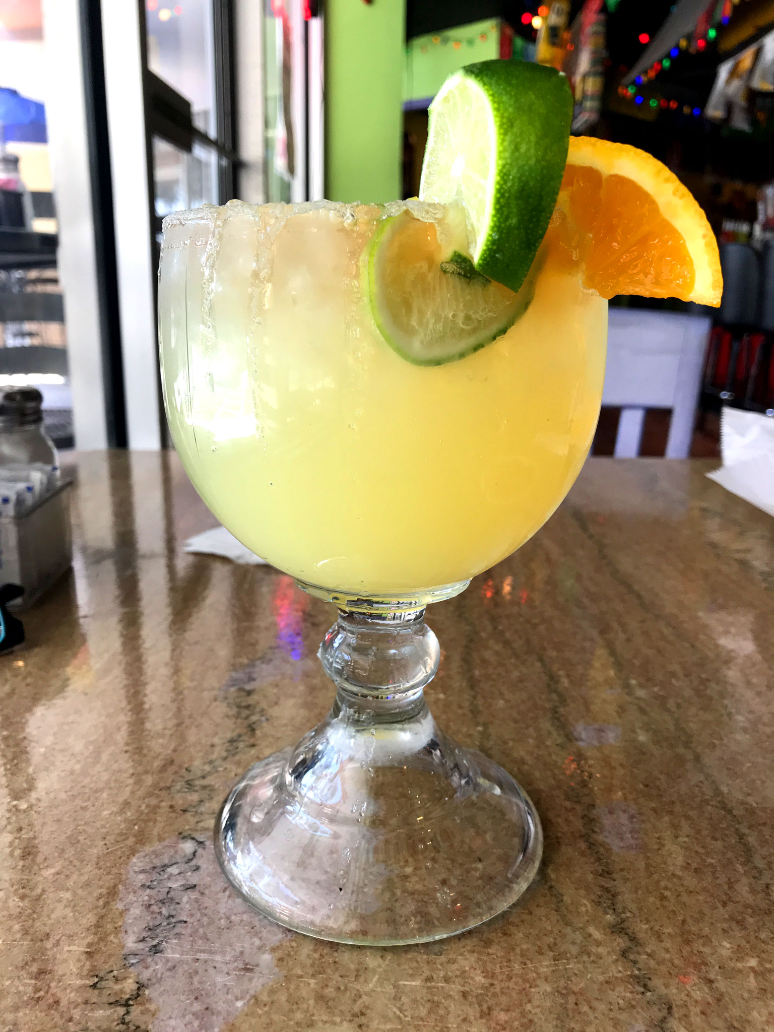 Fresh Top Shelf Margarita at Que Pasa