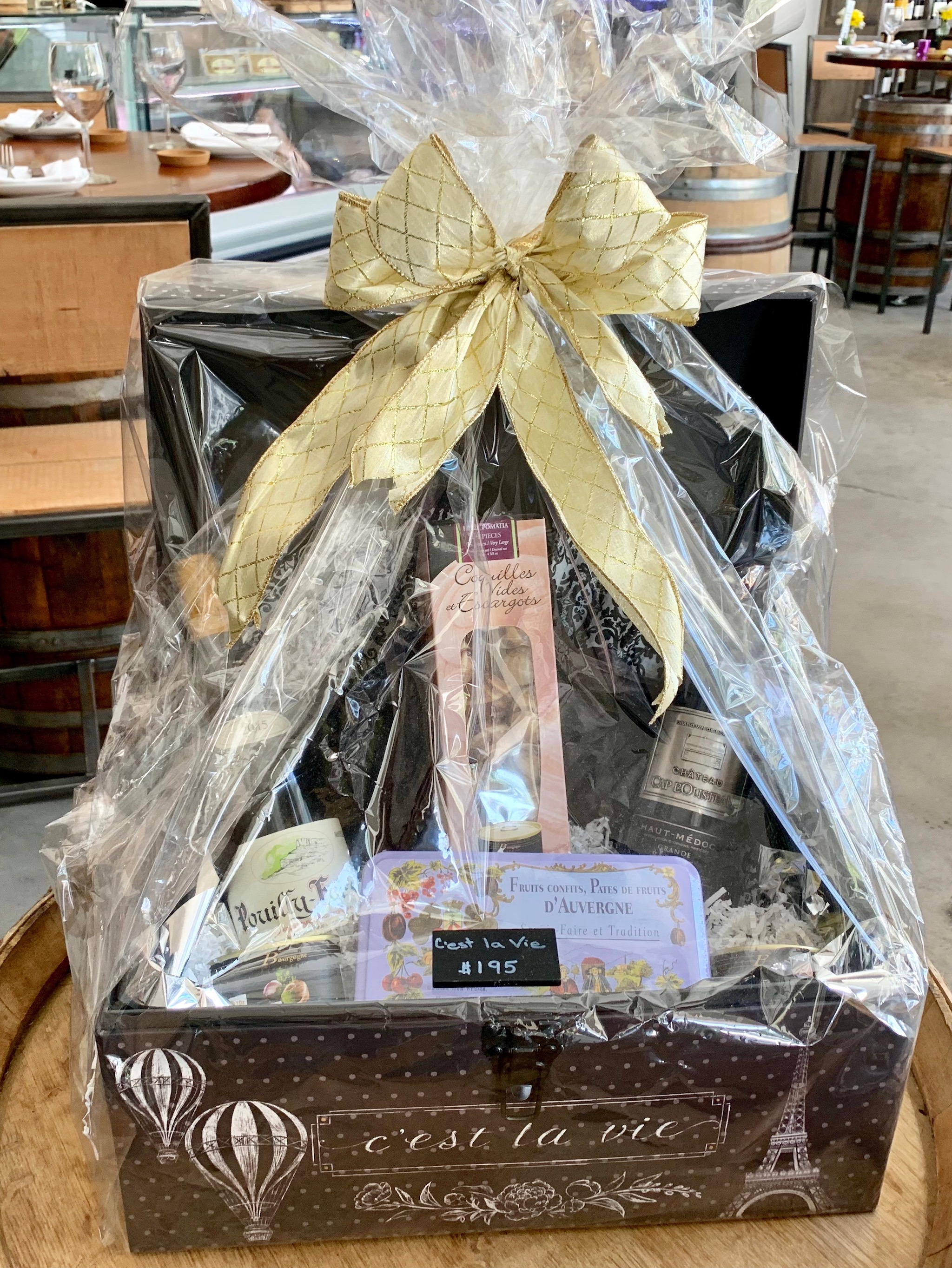 Bacchus gift baskets for purchase