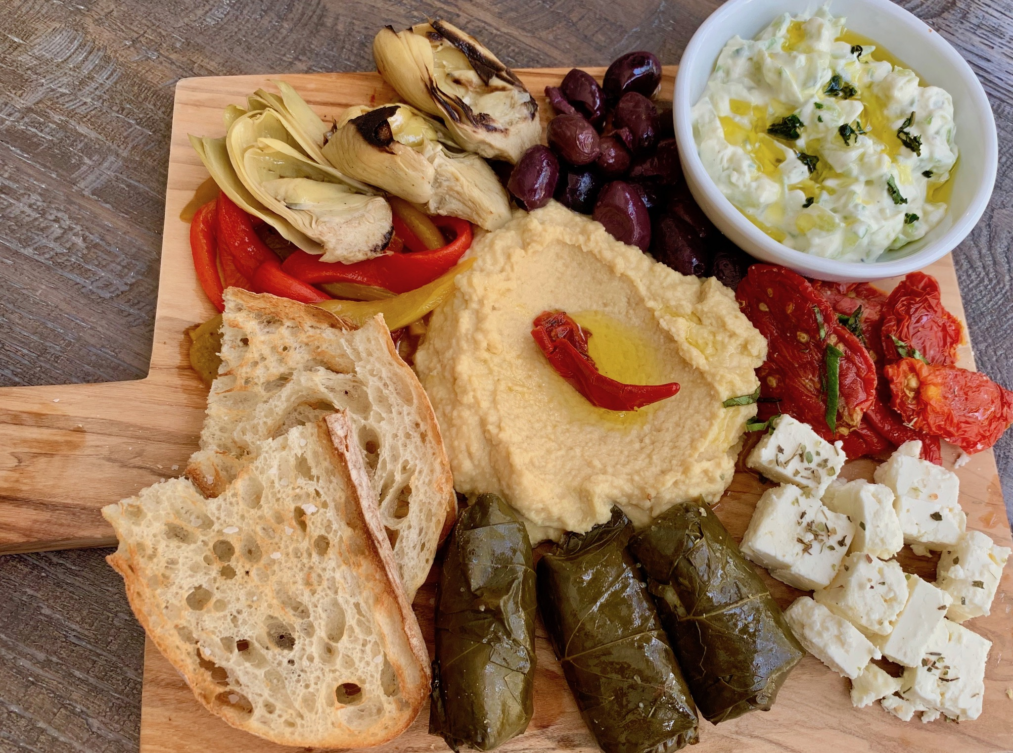 Mezze Platter at Bacchus brunch