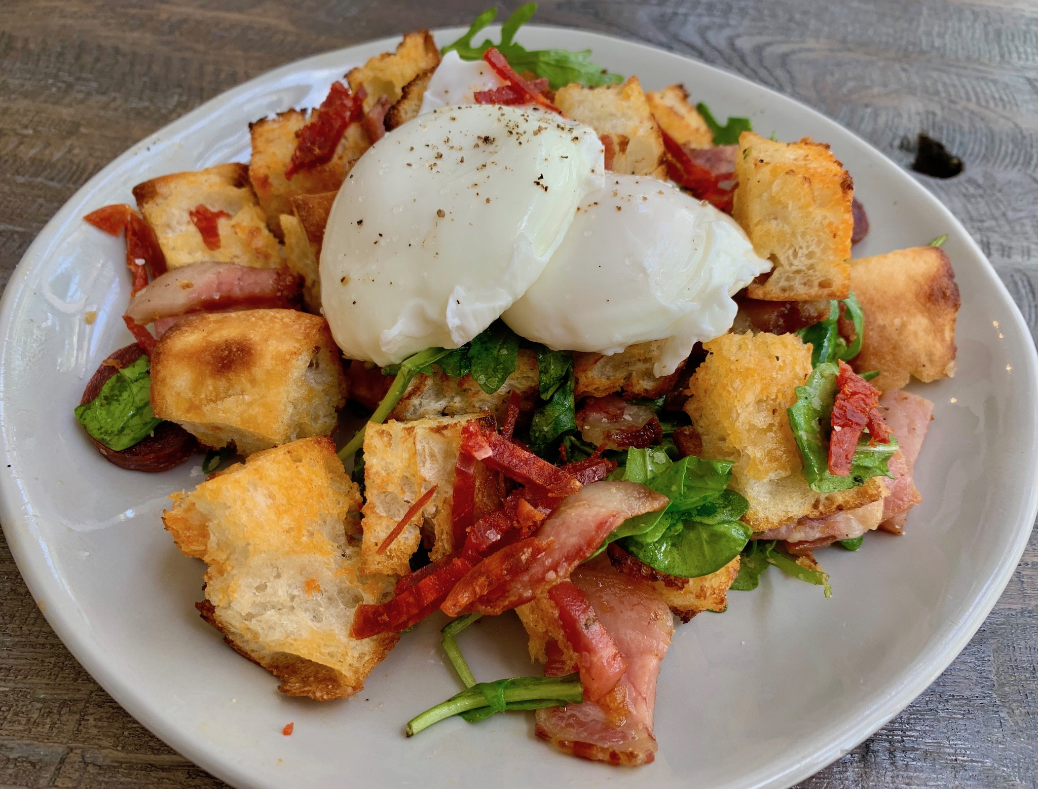 Panzanella Salad at Bacchus Brunch