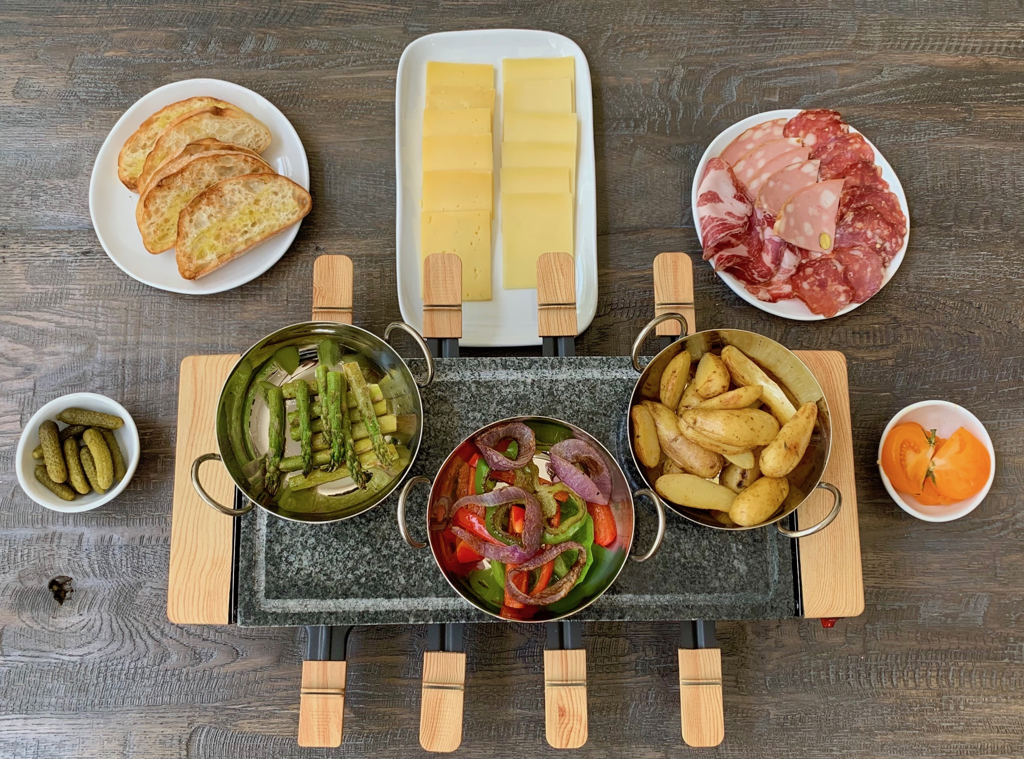 Raclette Offerings at Bacchus St Pete