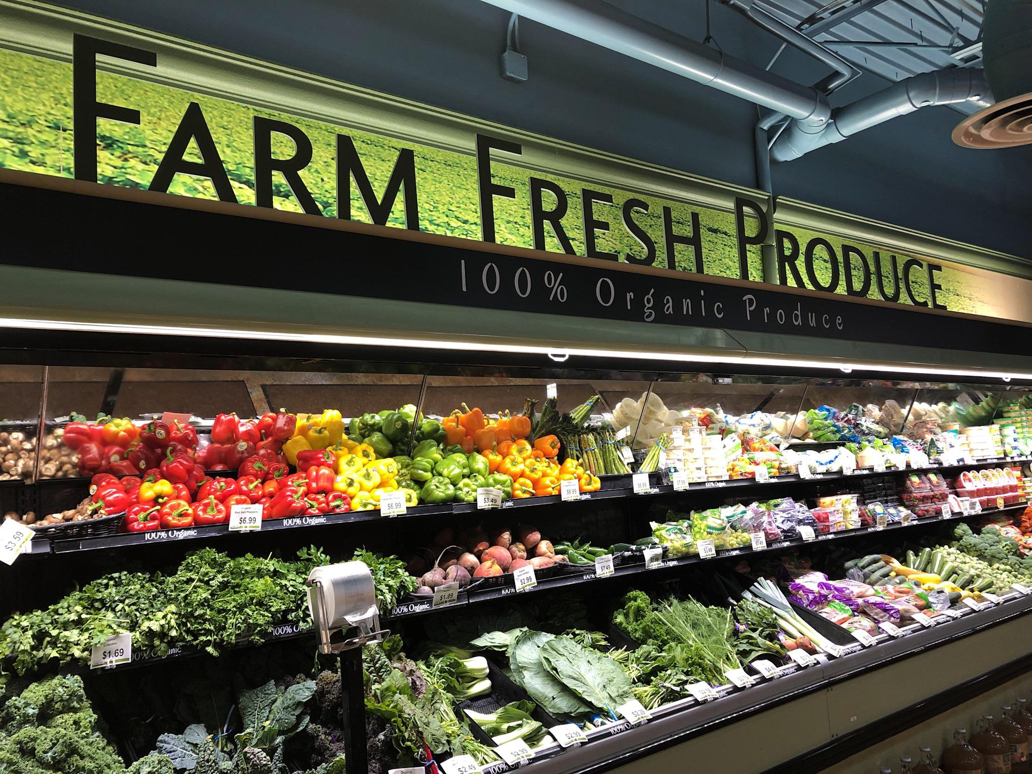 Farm Fresh Produce inside of Rollin' Oats