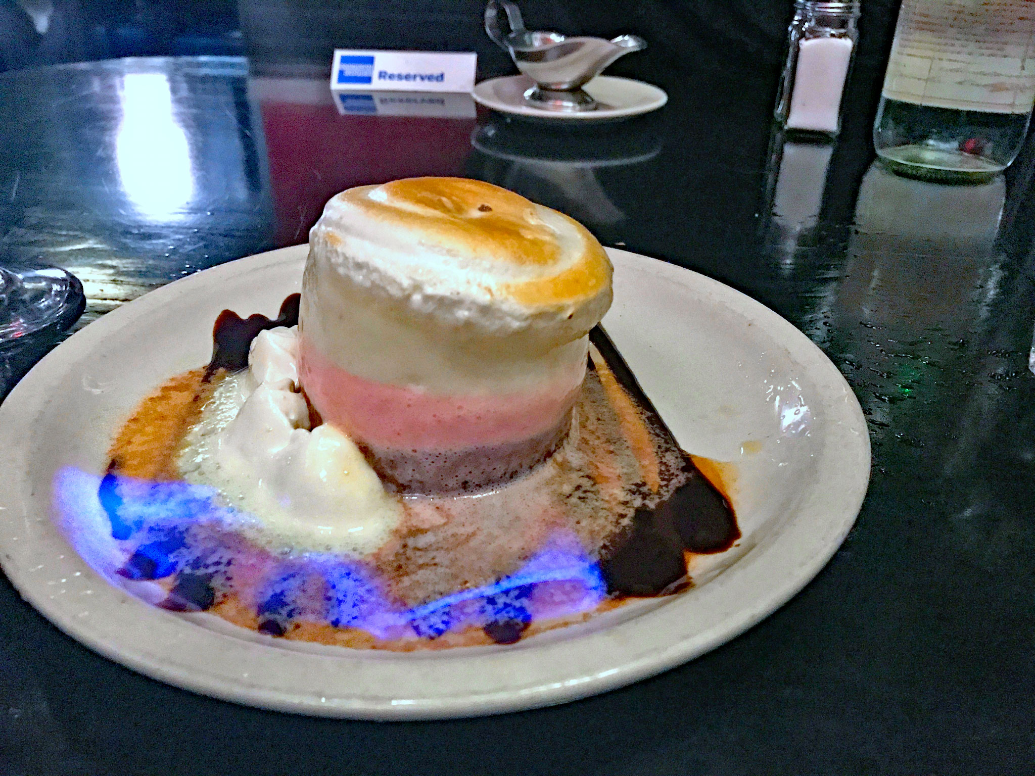 Flaming Mini Baked Alaska