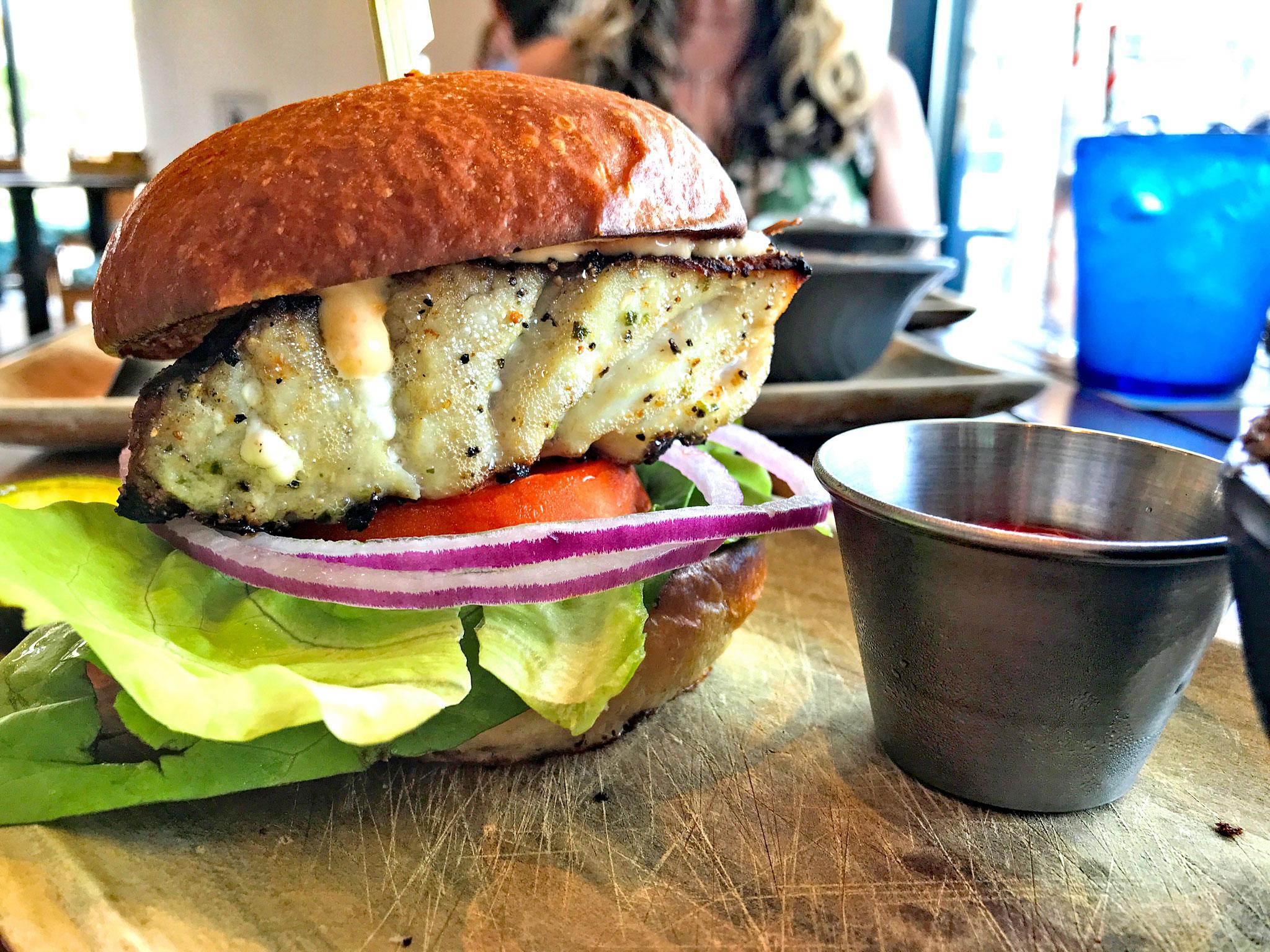 Paul's Landing Grouper Sandwich