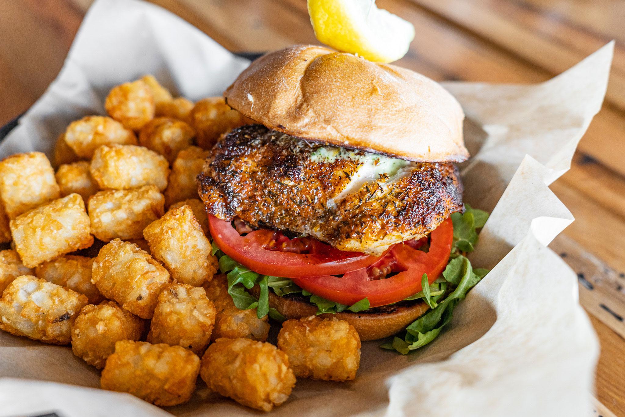 Sea Dog Brew Pub Grouper Sandwich
