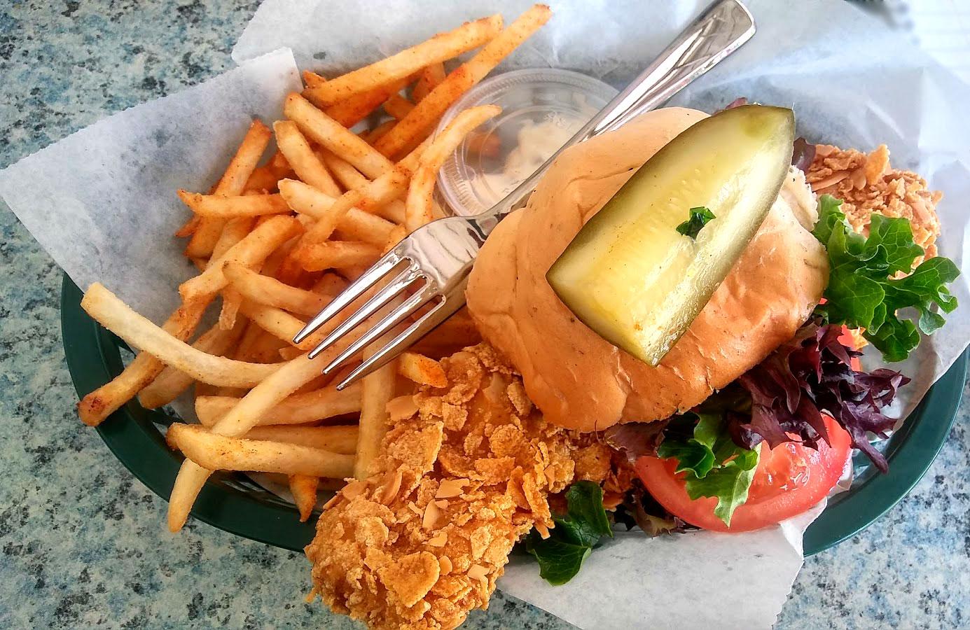 Tavern at Bayboro Crunchy Grouper Sandwich