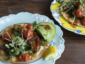 Another shot of the BLT Tostadas