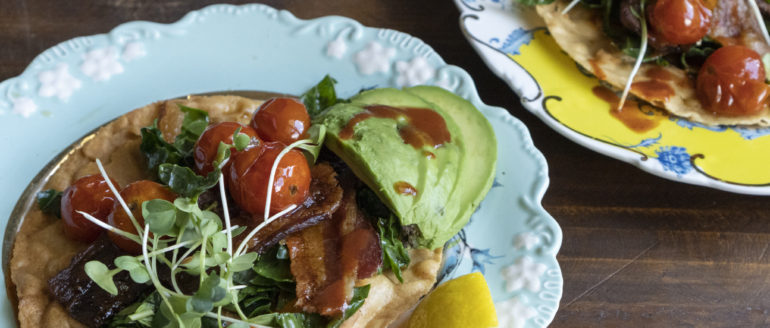 BLT Tostadas with Tomato Confit Recipe