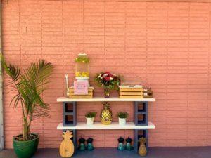 Citrus Water and vegan snacks at the Pineapple Espresso Drive-thru