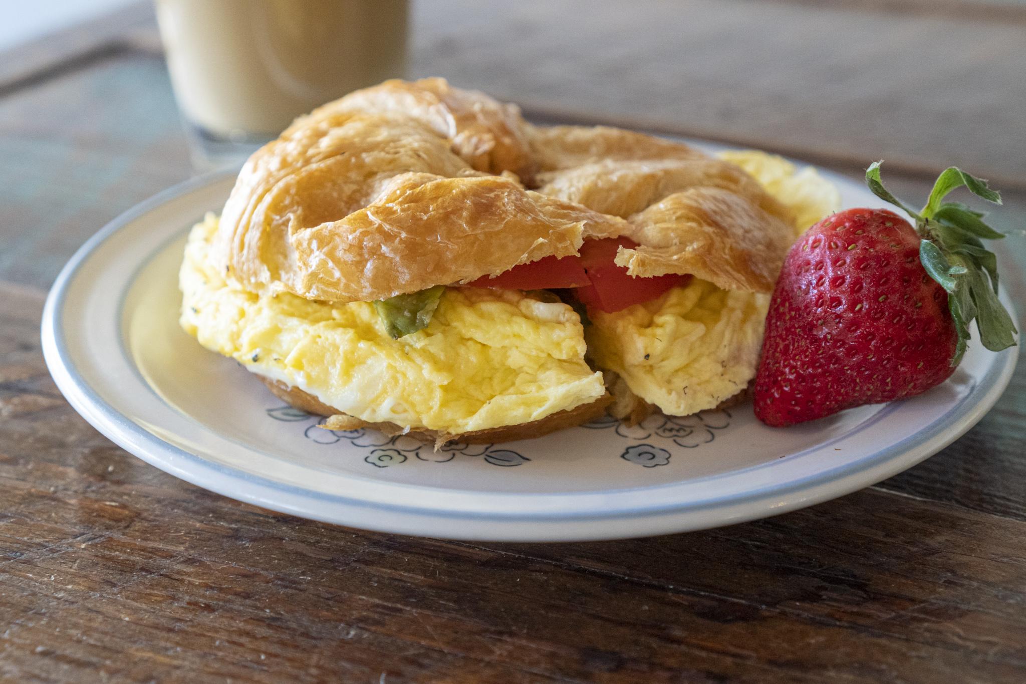 Egg Sandwich on Croissant