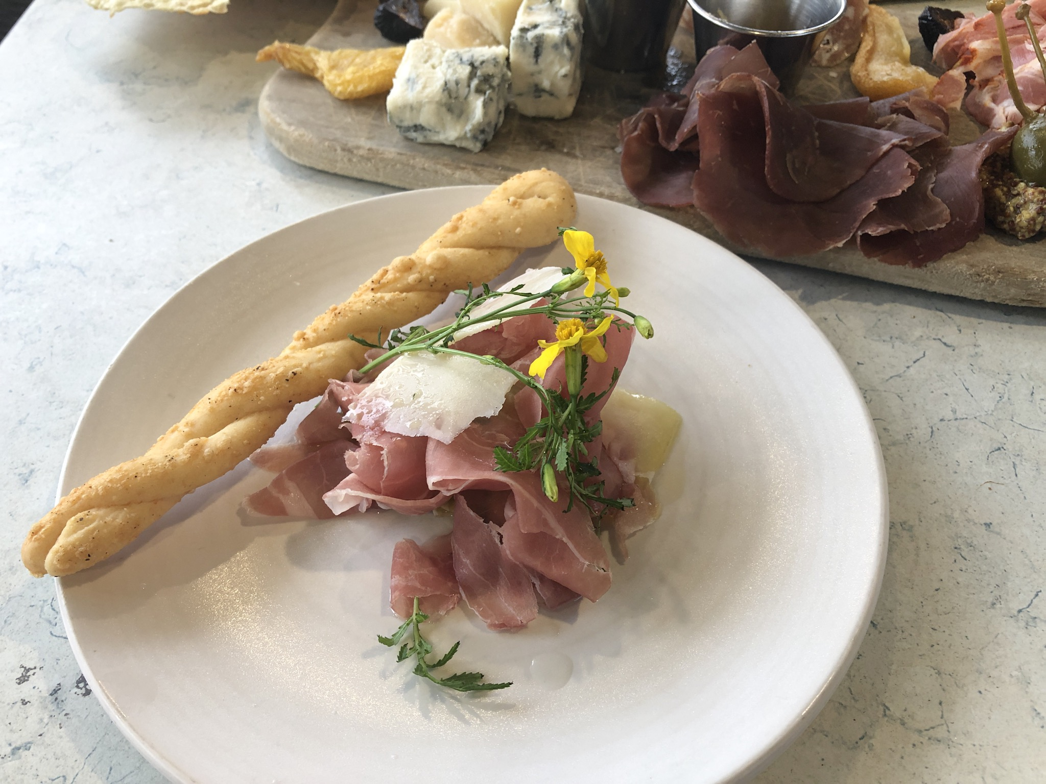 24 Month Prosciutto fro the FarmTable happy hour list