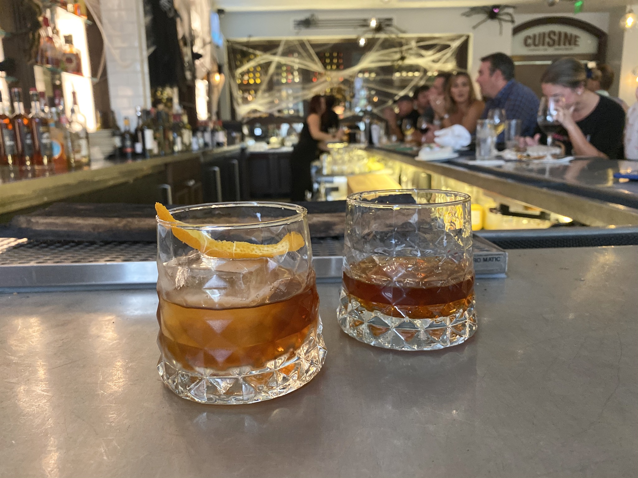 $5 Smoked Sazeracs and Old Fashioneds from Cassis